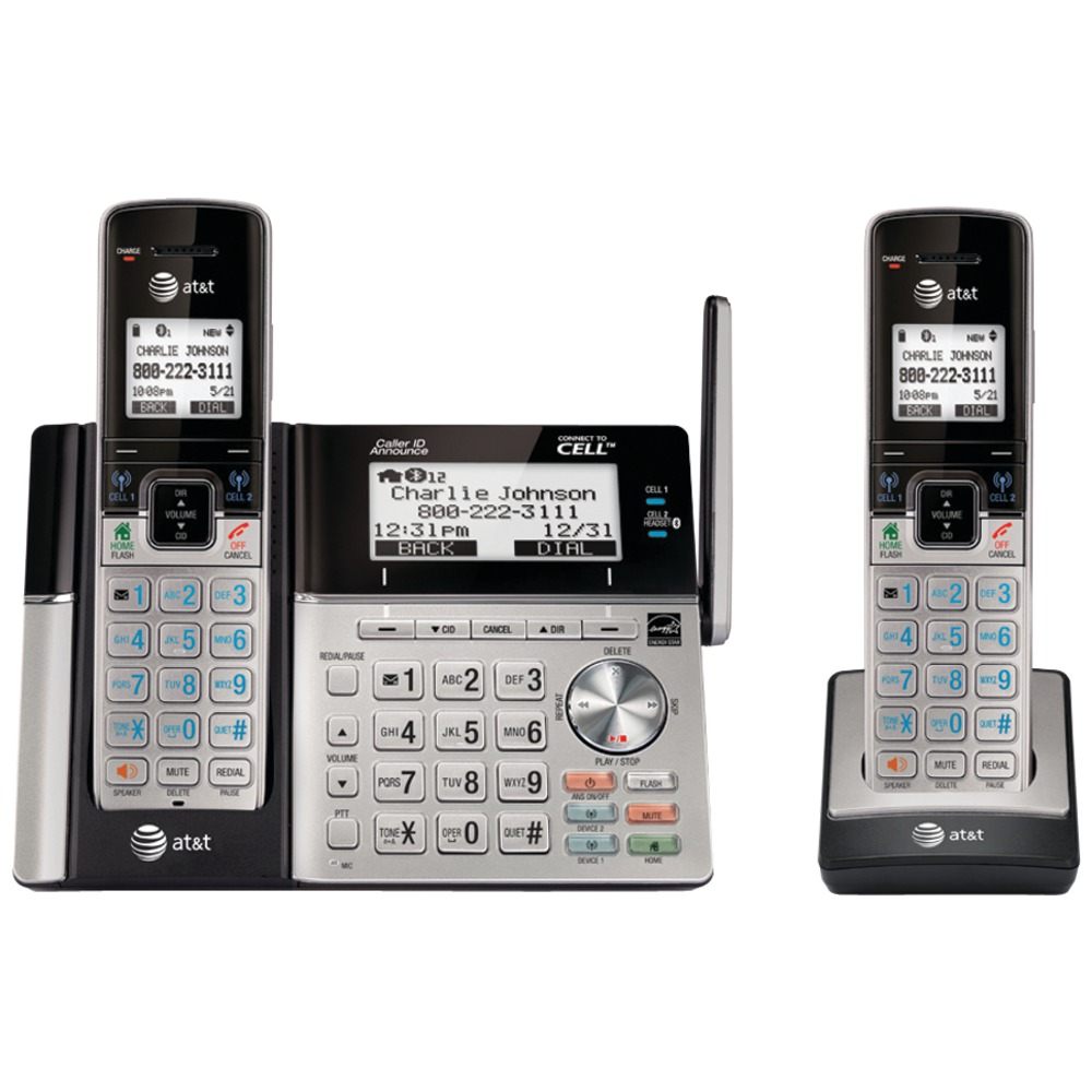 at t tl96273 connect to cell tm answering system with dual caller id 2 handset. Black Bedroom Furniture Sets. Home Design Ideas