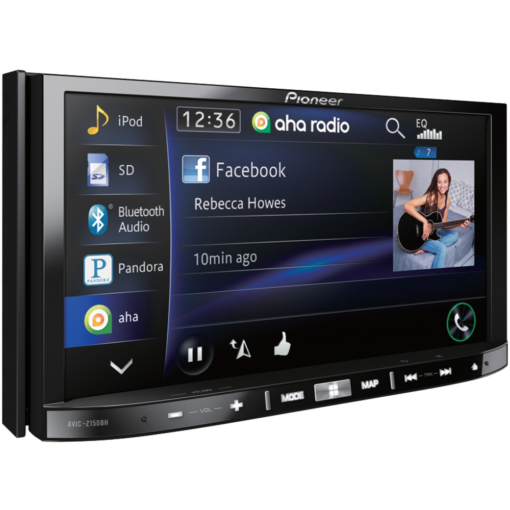 pioneer avic z150bh 7 double din in dash dvd navigation a v receiver with android tm app. Black Bedroom Furniture Sets. Home Design Ideas