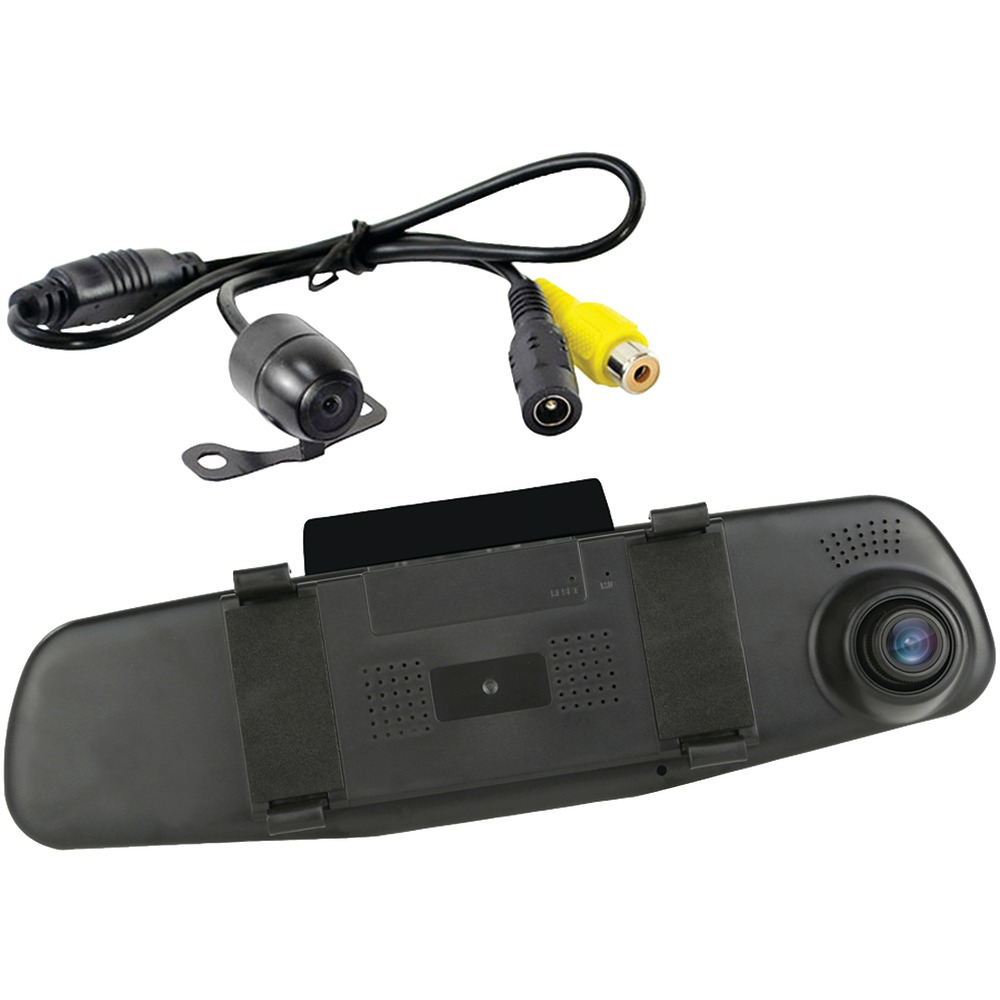 Pyle plcmdvr47 hd dvr dash cam rearview camera system for Camera camera