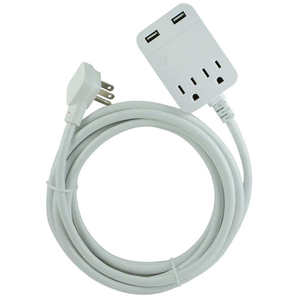 Electric Extension Cable : General electric  outlet grounded indoor
