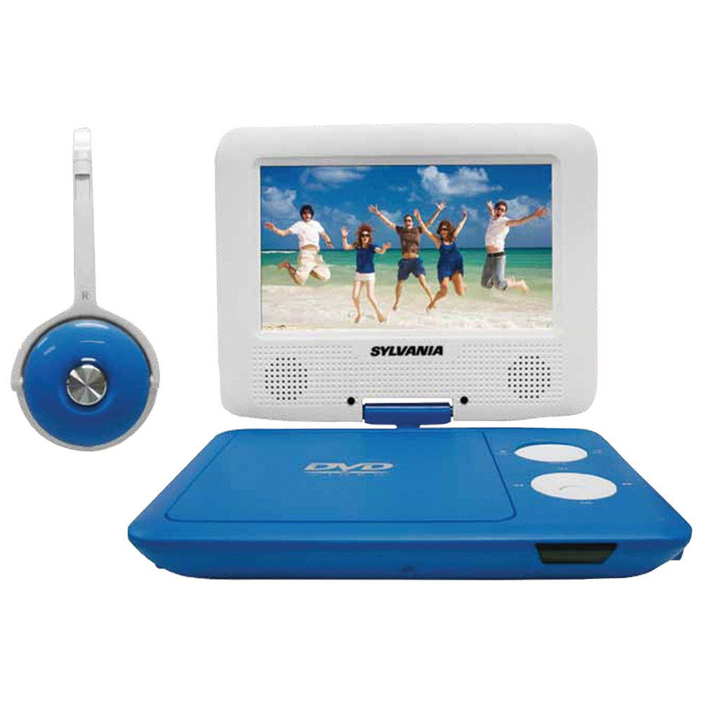 "Sylvania 7 Portable Dvd Player With Swivel Screen Black Portable Tv Remote Portable Cd Player Amazon Portable Charger Ryanair: 7"" Swivel-Screen Portable DVD"