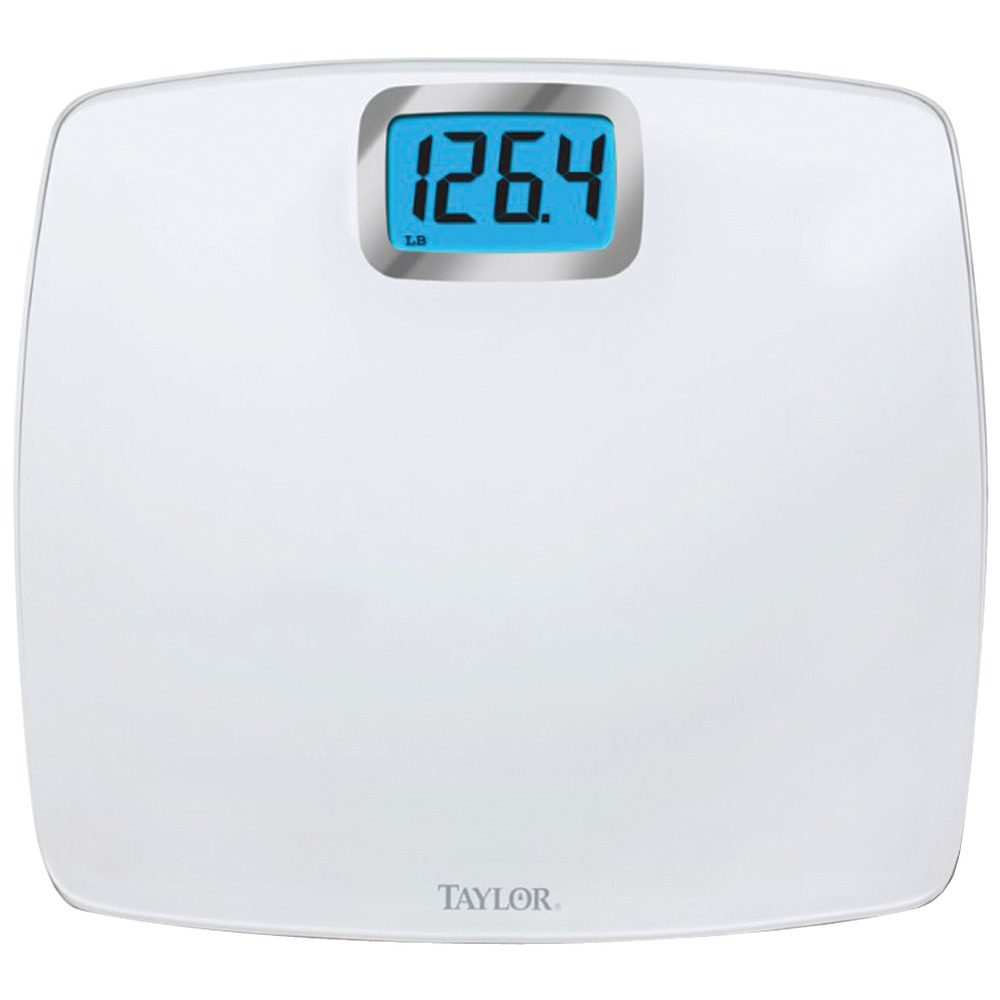 Cheap Bathroom Scales Free Delivery: Oversized Digital Glass Bath Scale (White