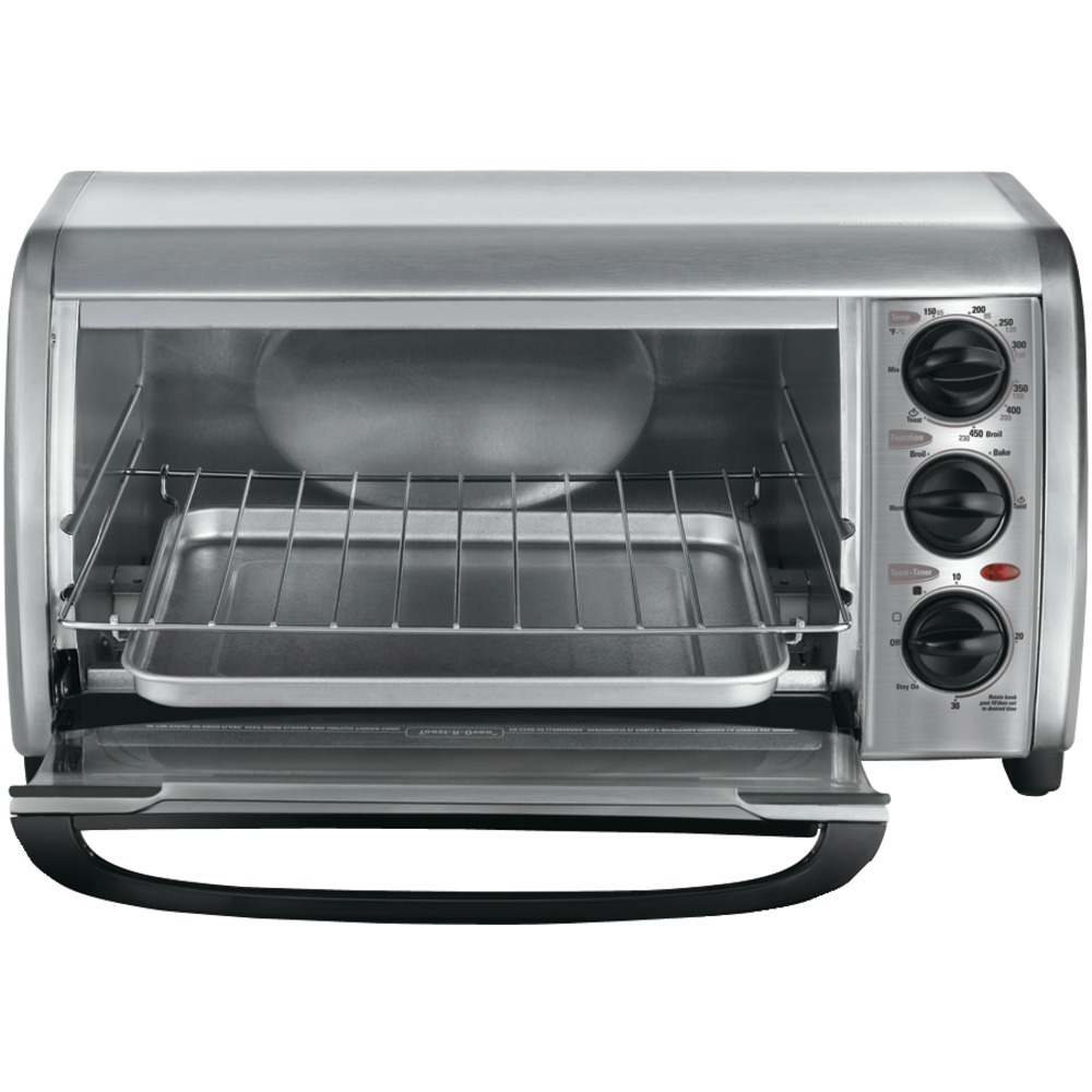 Black Amp Decker To1491s 2 4 Slice Stainless Steel Toaster