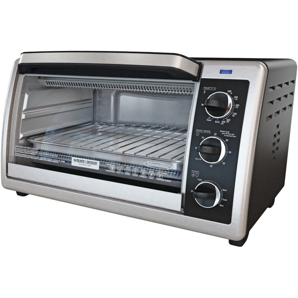 Black Amp Decker To1660b 6 Slice Convection Oven