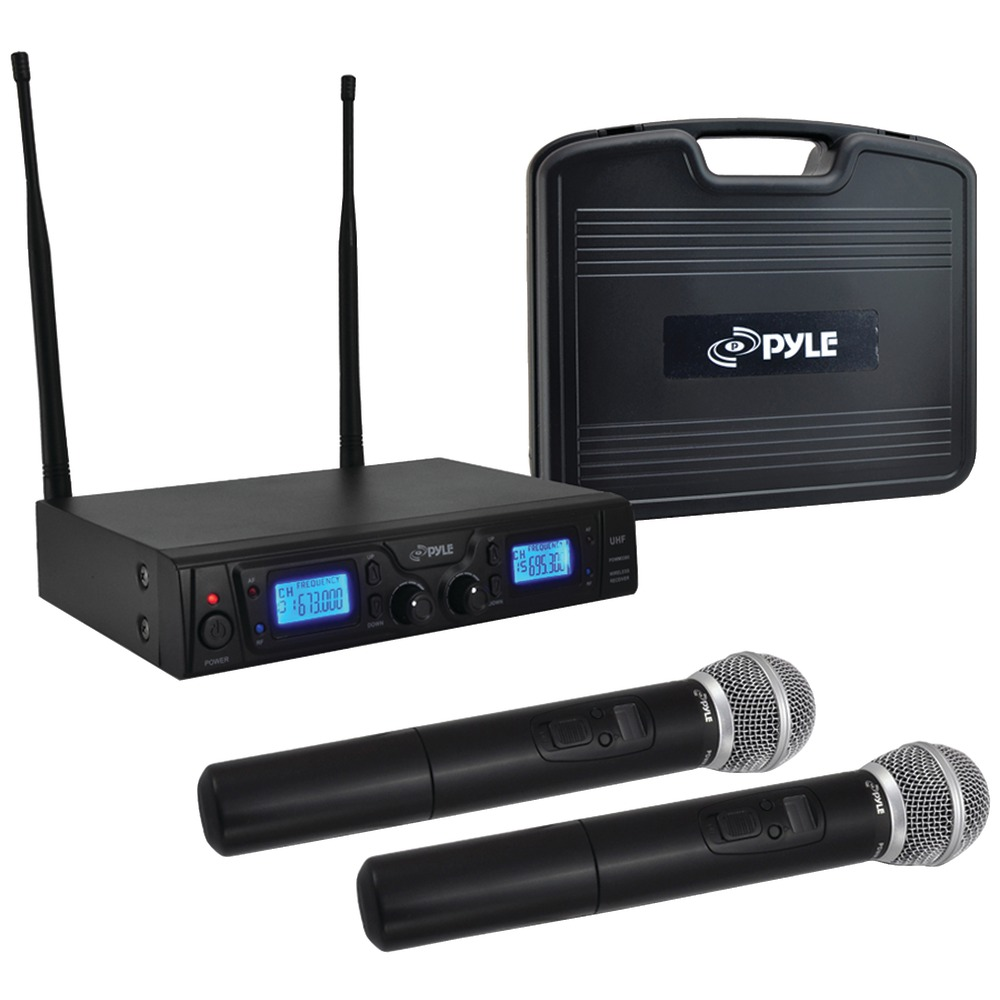 pyle pdwm3360 uhf wireless microphone system. Black Bedroom Furniture Sets. Home Design Ideas