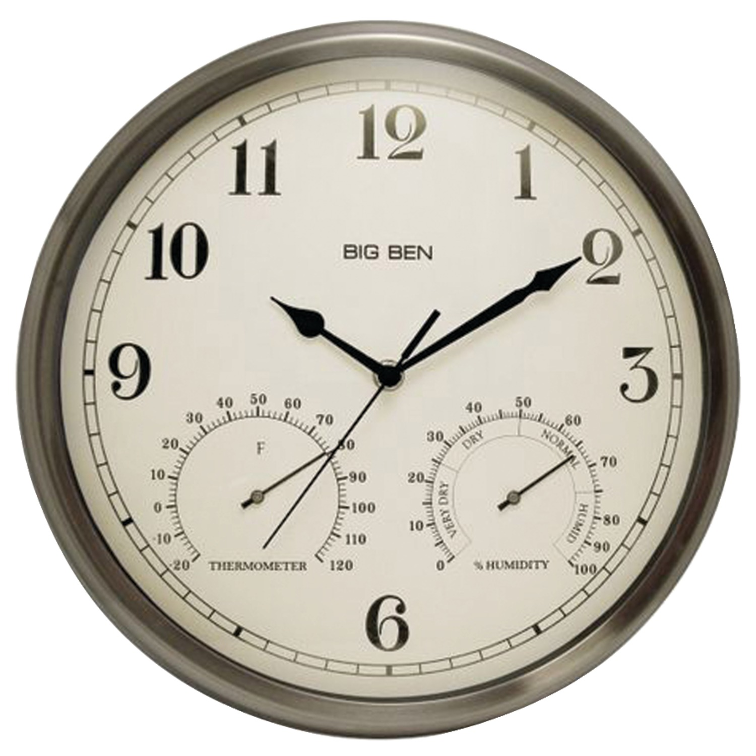 Westclox 49832 Indoor Outdoor Clock With Temperature