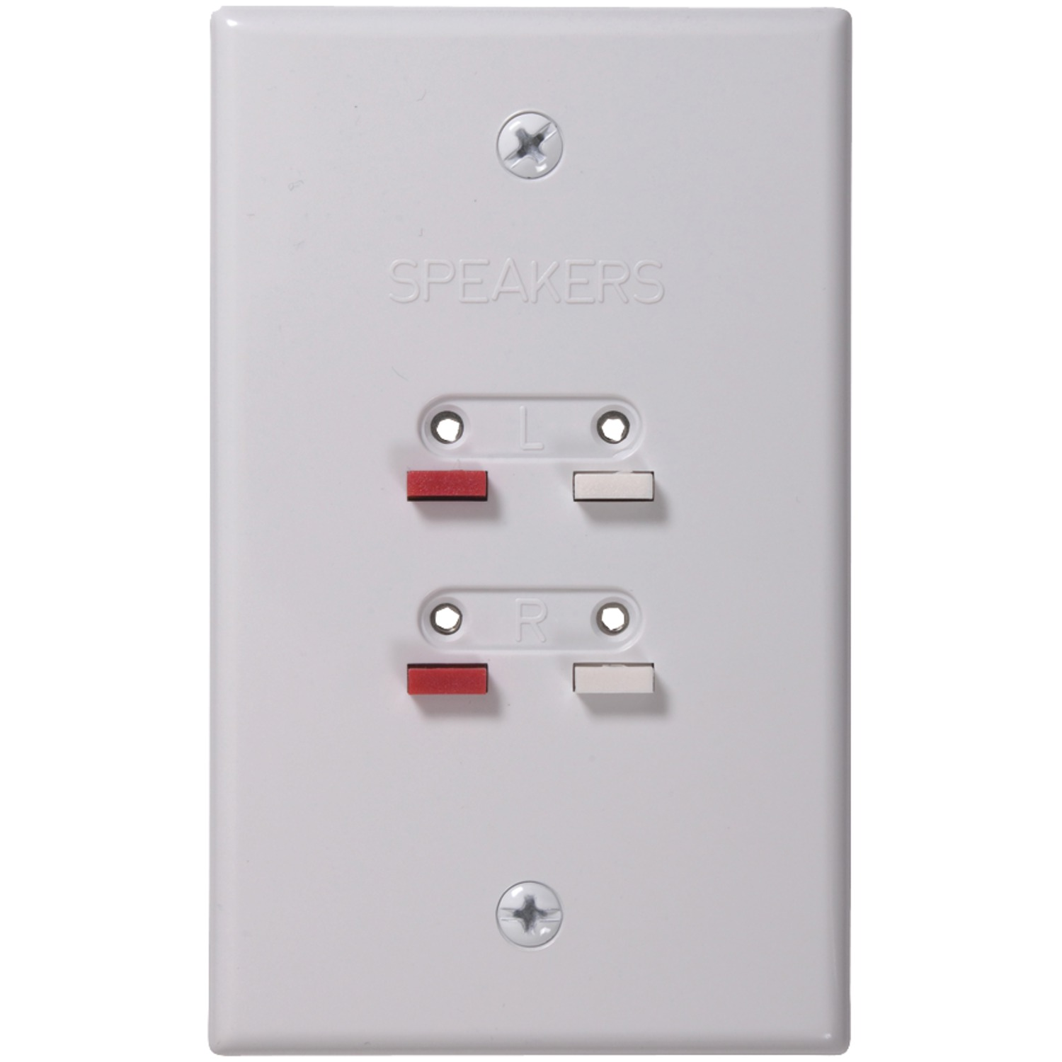 RCA AH300WHR | Stereo Speaker Wire Wall Plate (White)