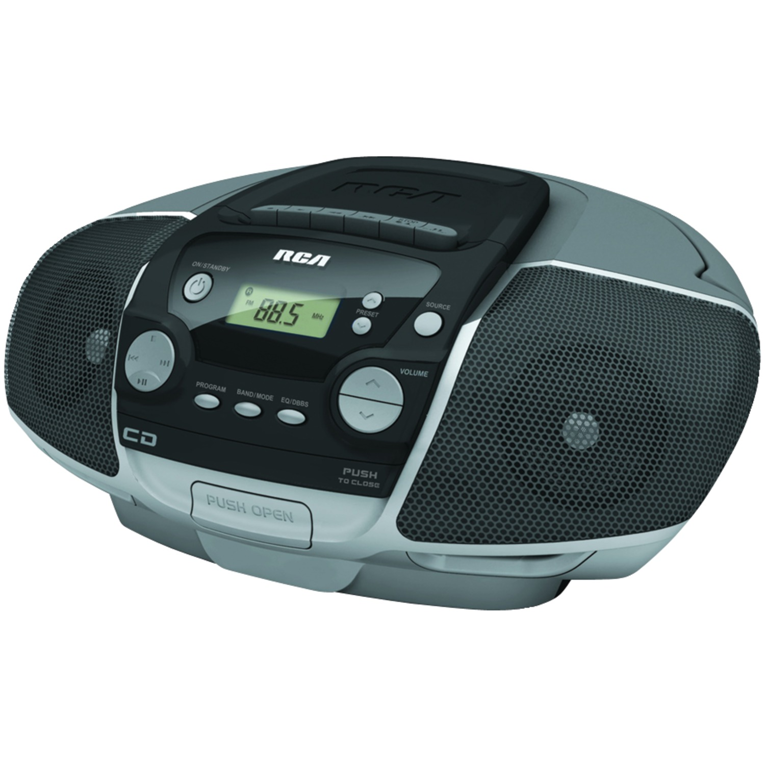Rca rcd175 portable cd boom box with cassette player - Mobile porta cd ...