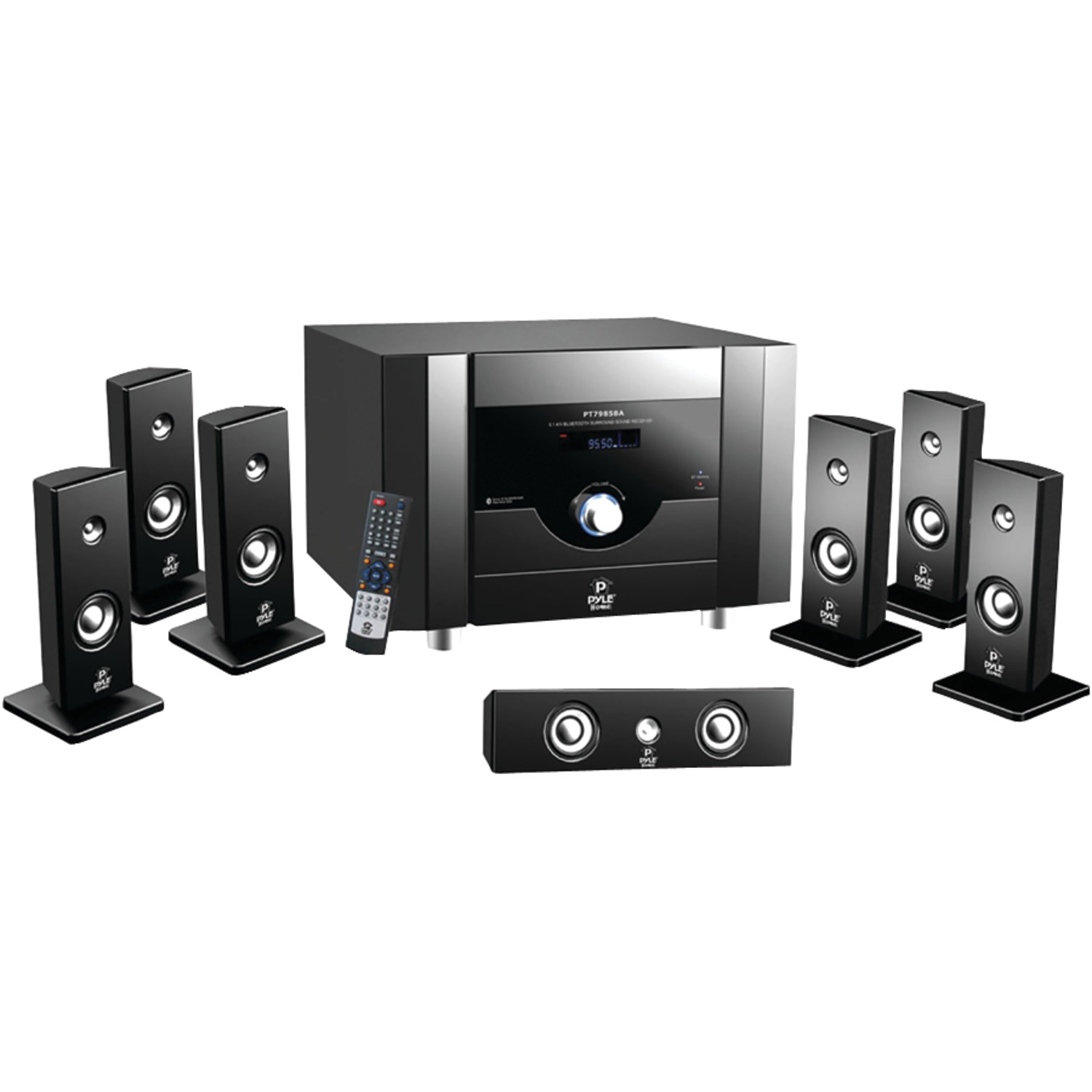 Pyle pt798sba 7 1 channel home theater system with - Home cinema bluetooth ...