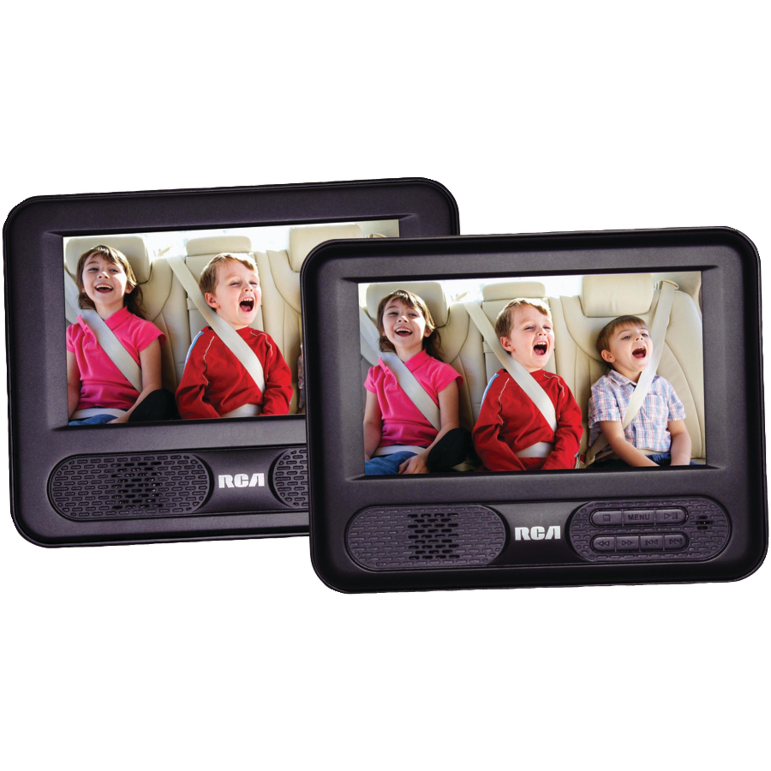 rca drc69707 7 inch mobile dvd player with additional 7. Black Bedroom Furniture Sets. Home Design Ideas