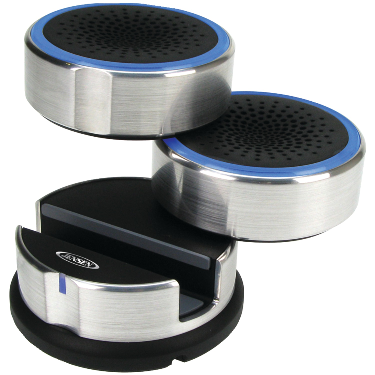 Jensen Smps 222 Portable Speaker System With Swivel Speakers