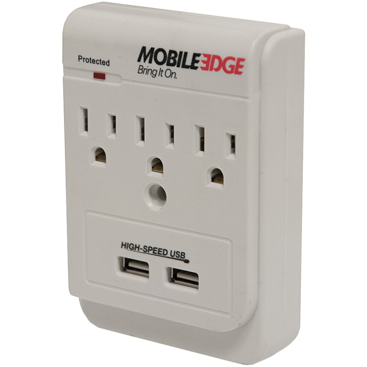 Mobile edge meauac 3 outlet dual power dx in wall surge for Outlet mobile
