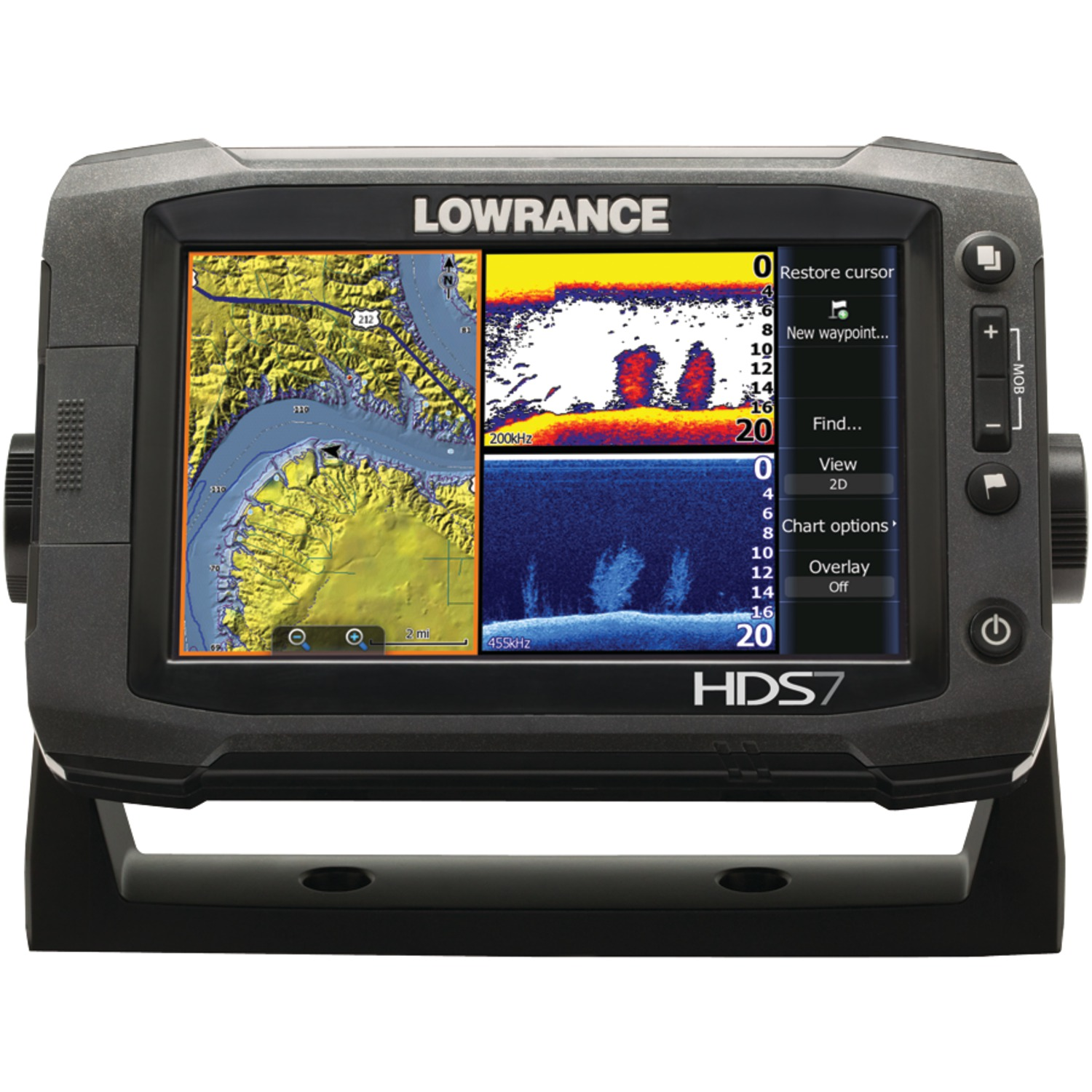 lowrance 000 10765 001 hds 7 gen2 touch fishfinder chartplotter with insight tm usa 83. Black Bedroom Furniture Sets. Home Design Ideas