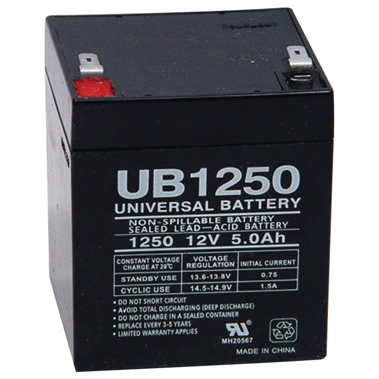 upg 85983 d5741 sealed lead acid batteries 12v 5ah. Black Bedroom Furniture Sets. Home Design Ideas