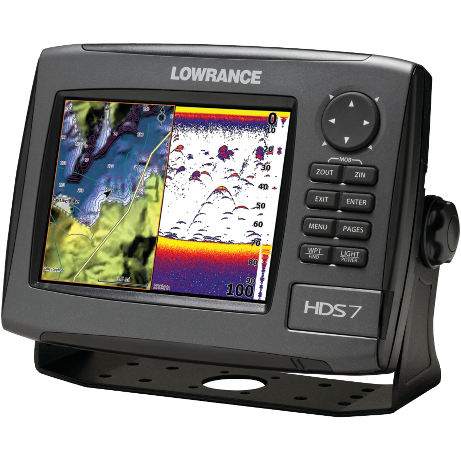 lowrance 000 10530 001 hds 7 gen2 fishfinder chartplotter with lake insight tm 83 200khz. Black Bedroom Furniture Sets. Home Design Ideas