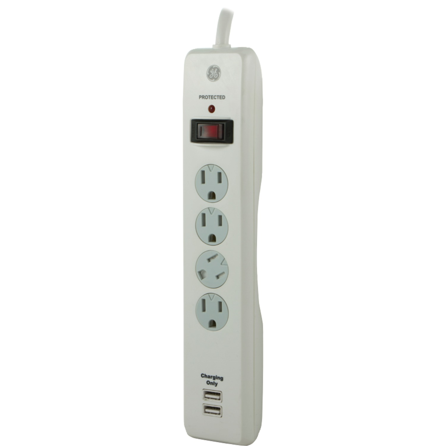 ge 14090 4 outlet surge protector with 2 usb ports. Black Bedroom Furniture Sets. Home Design Ideas