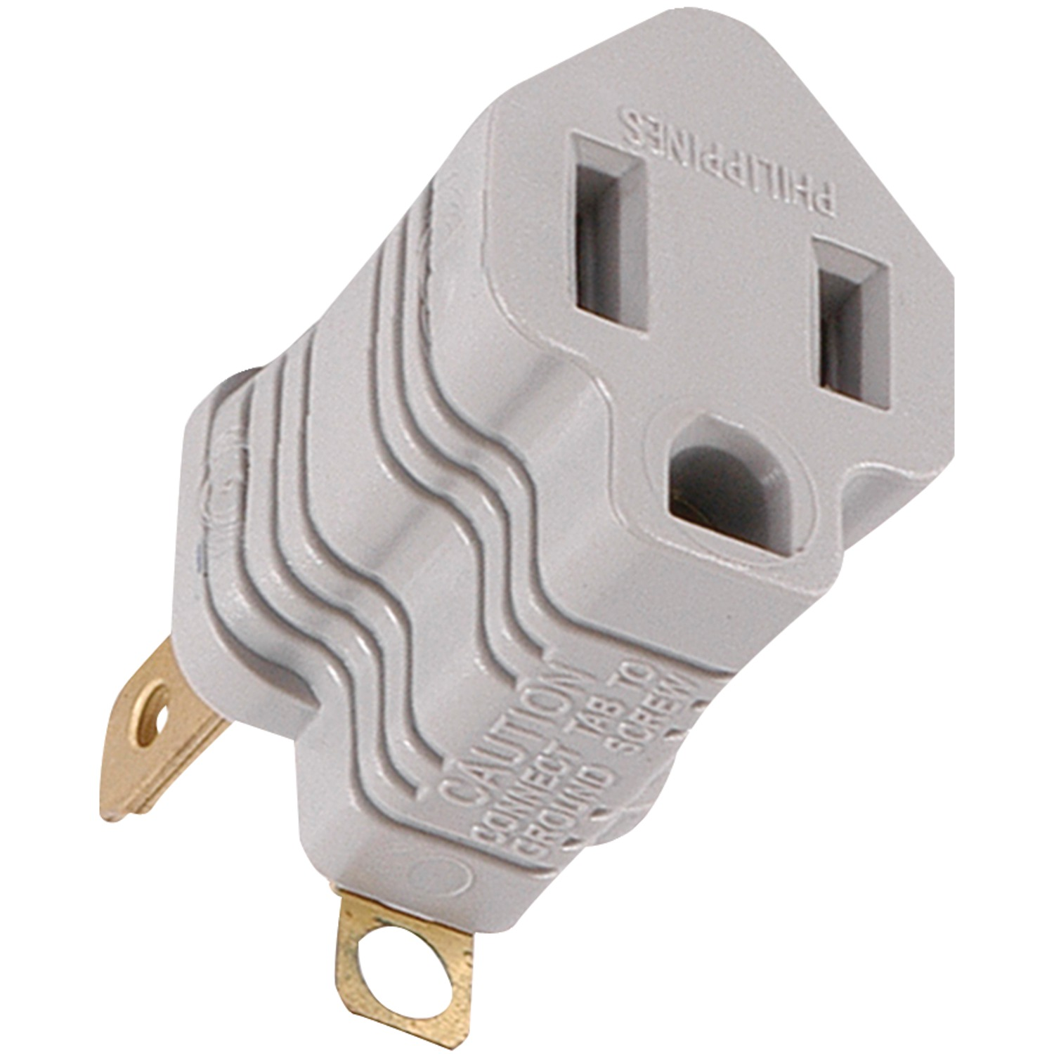 GE 58900 | Polarized Grounding Adapter Plug (Gray)