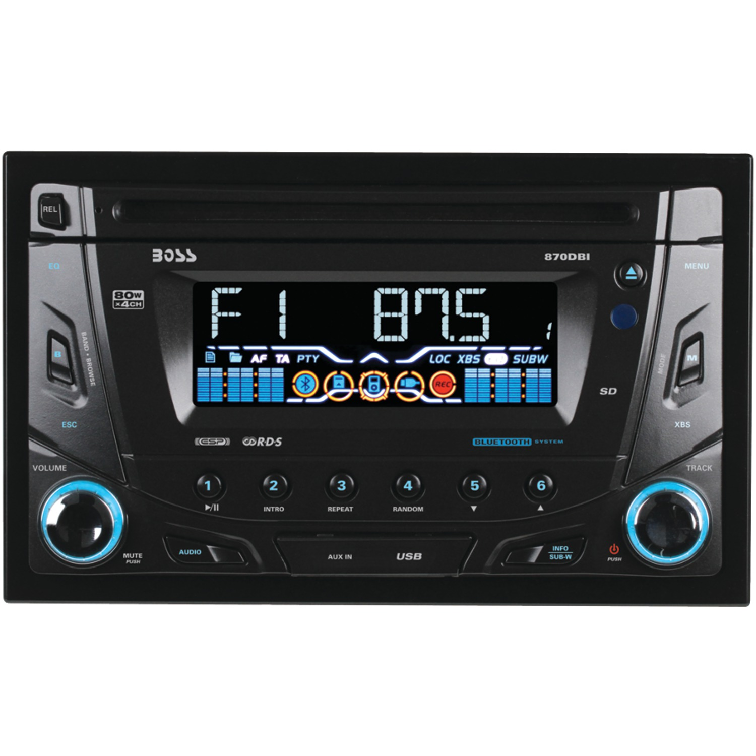 Boss Bv9538b Double Din Bluetooth Dvd Car Stereo Receiver: Double-DIN In-Dash CD Receiver With