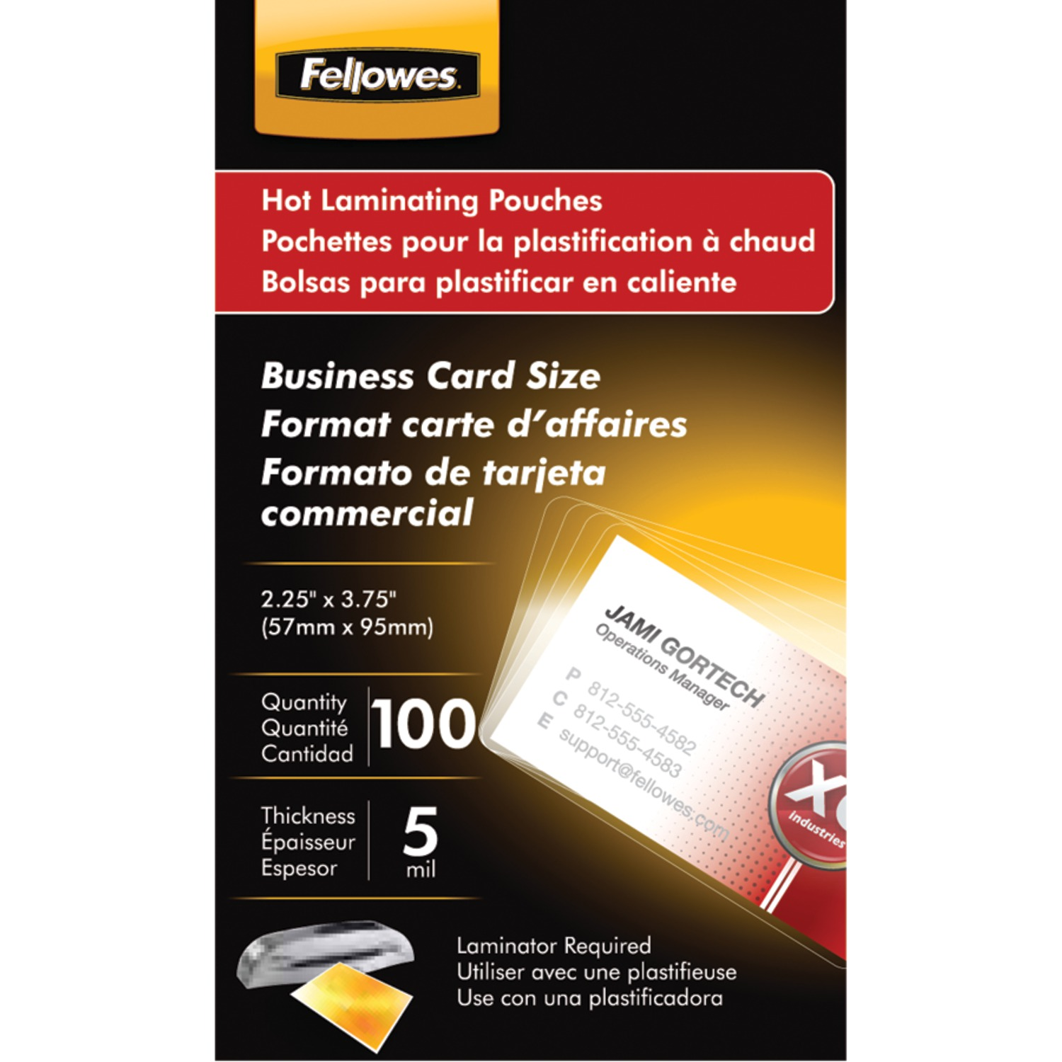 Fellowes 52031 business card laminating pouches 100 pk fellowes 52031 business card laminating pouches 100 pk reheart Choice Image