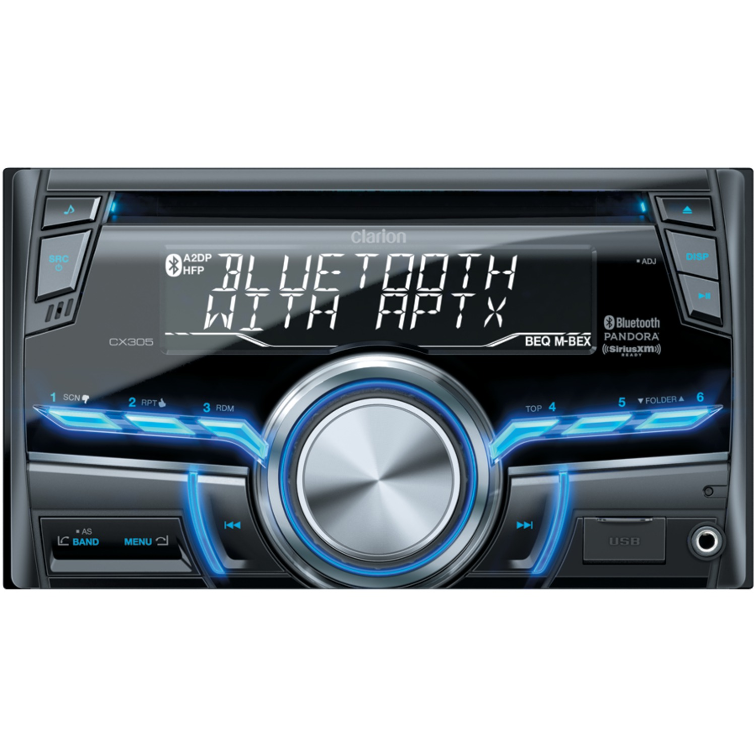 clarion cx double din cd usb mp wma receiver