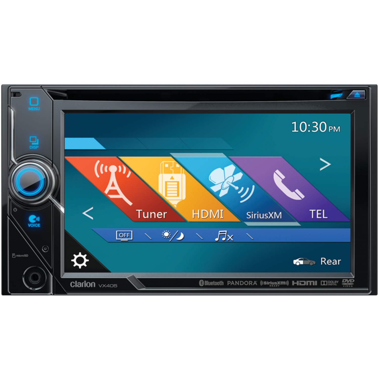CLARION VX405 | 6 Inch. Double-DIN DVD Multimedia Receiver with ...