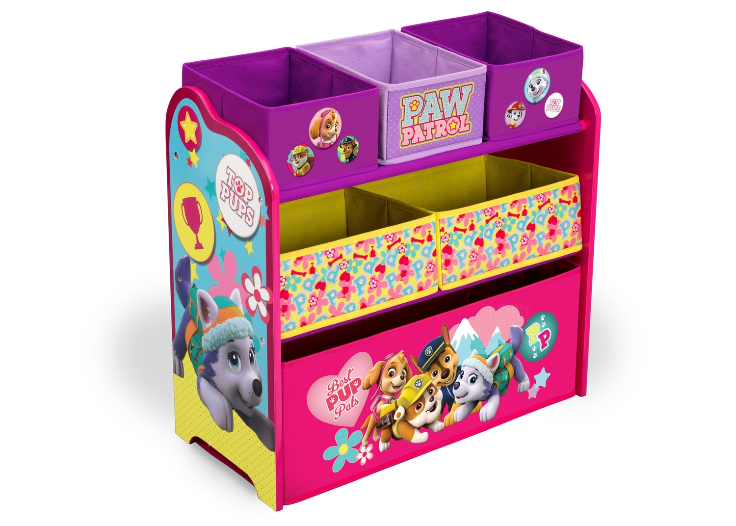 Paw Patrol Toy Organizer Bin Cubby Kids Child Storage Box: MULTI-BIN TOY ORGANIZER PAW