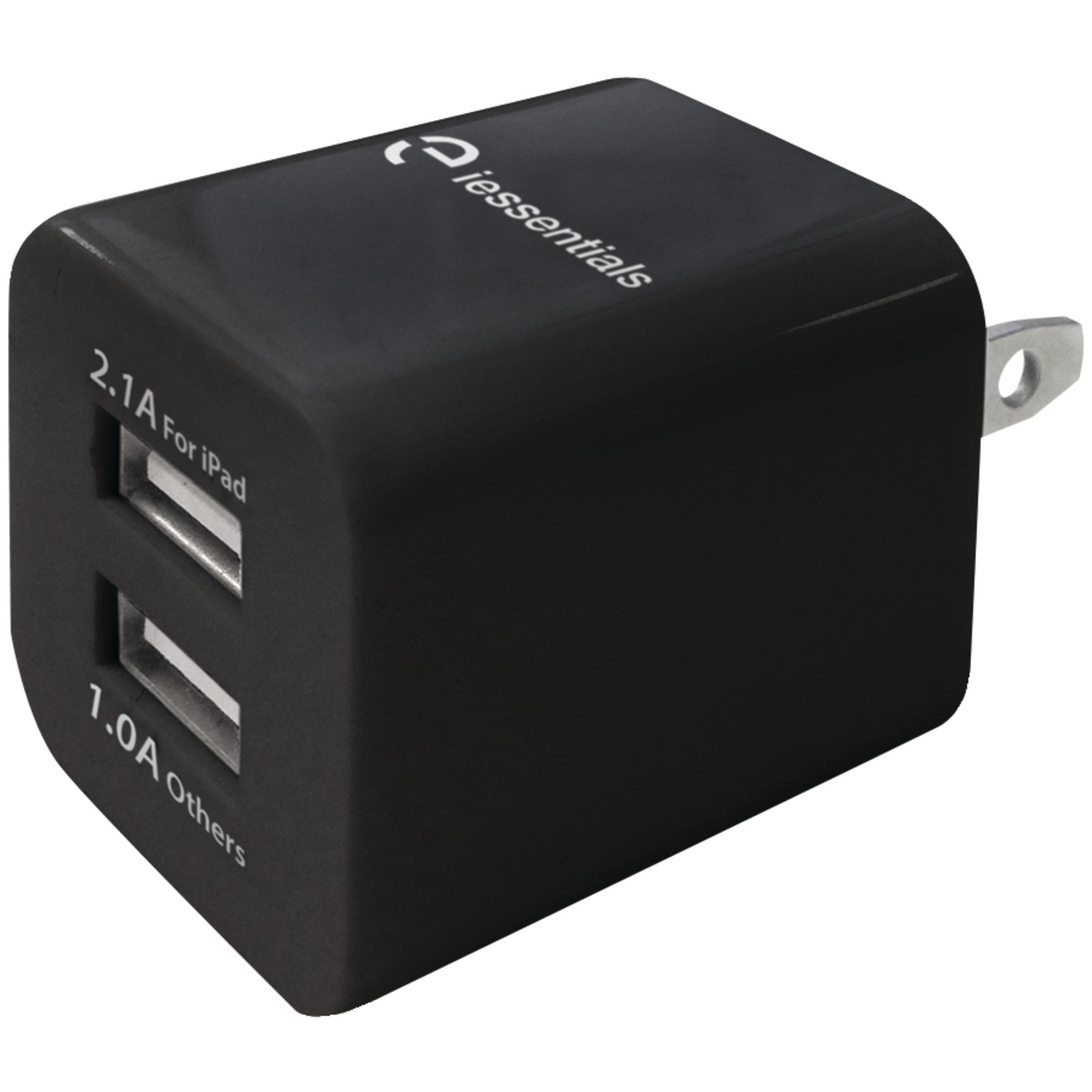 iessentials ie acp 2uc 3 4 amp dual usb wall charger. Black Bedroom Furniture Sets. Home Design Ideas