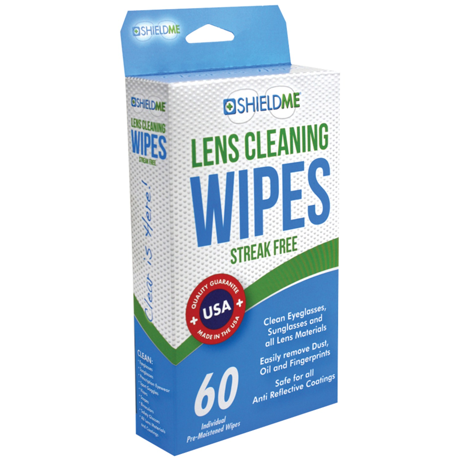 SHIELDME 6060   Lens Cleaning Wipes 60 ct