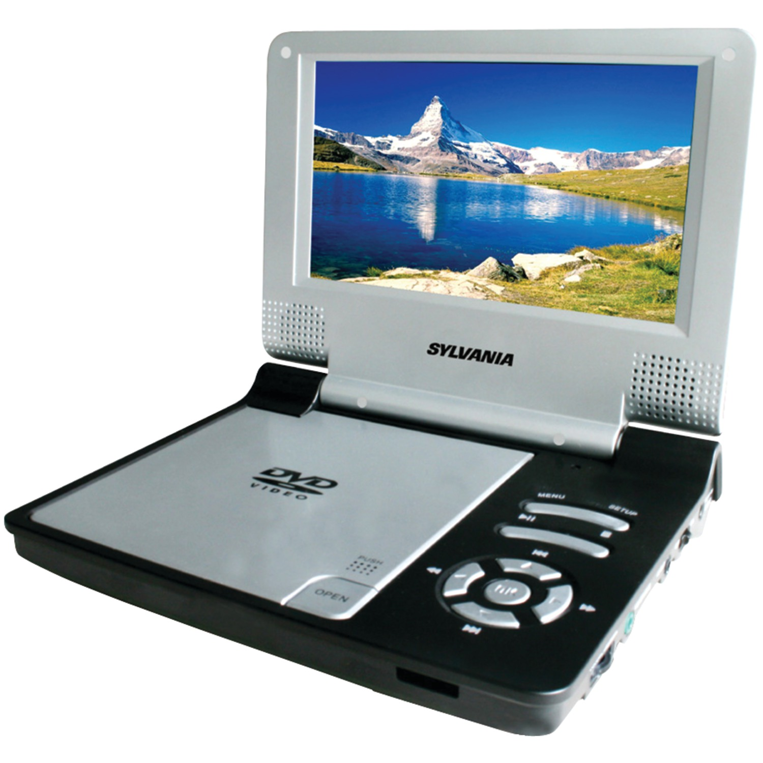 Sylvania 7 Portable Dvd Player With Swivel Screen Black Portable Tv Remote Portable Cd Player Amazon Portable Charger Ryanair: 7 Inch. Portable DVD Player (Black