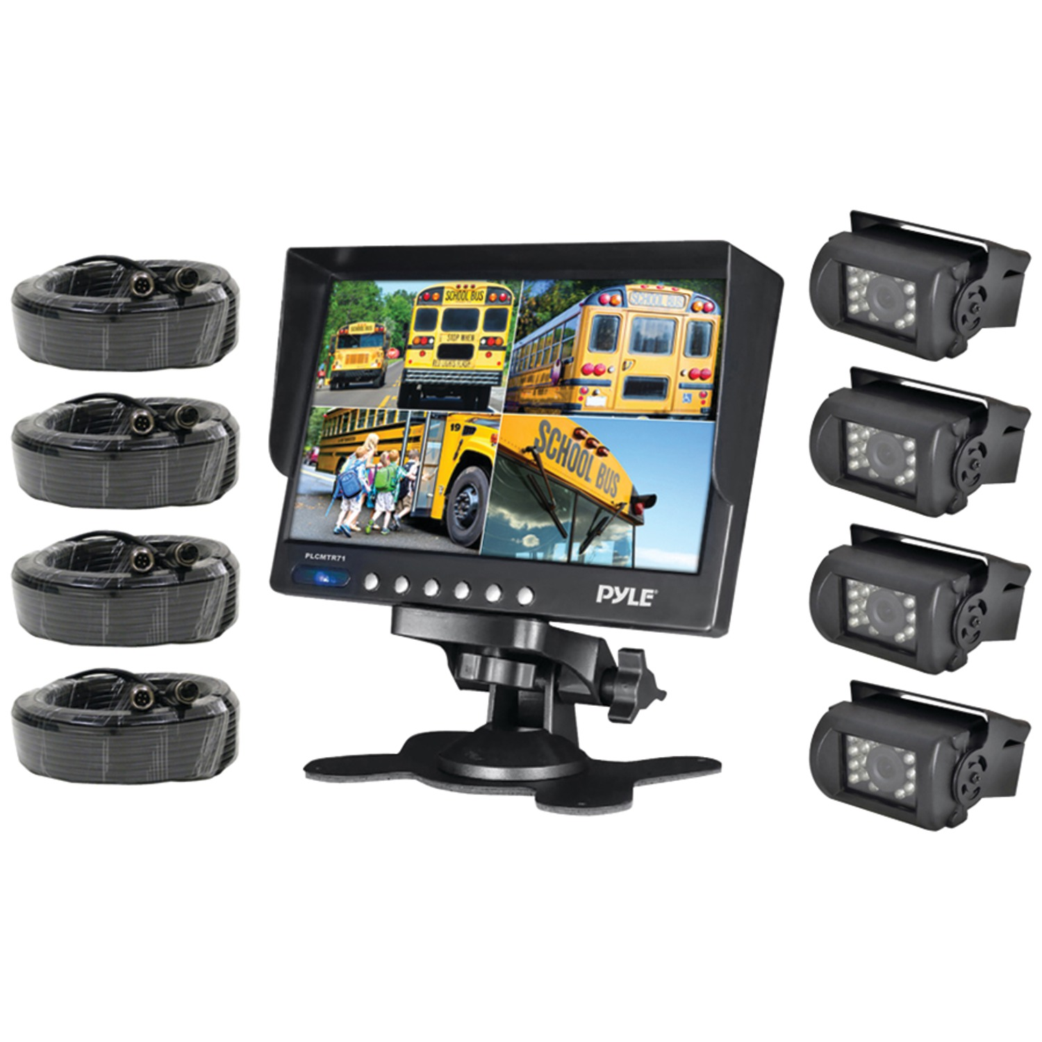 pyle plcmtr74 weatherproof backup camera system with 7 inch lcd color monitor 4 ir night. Black Bedroom Furniture Sets. Home Design Ideas