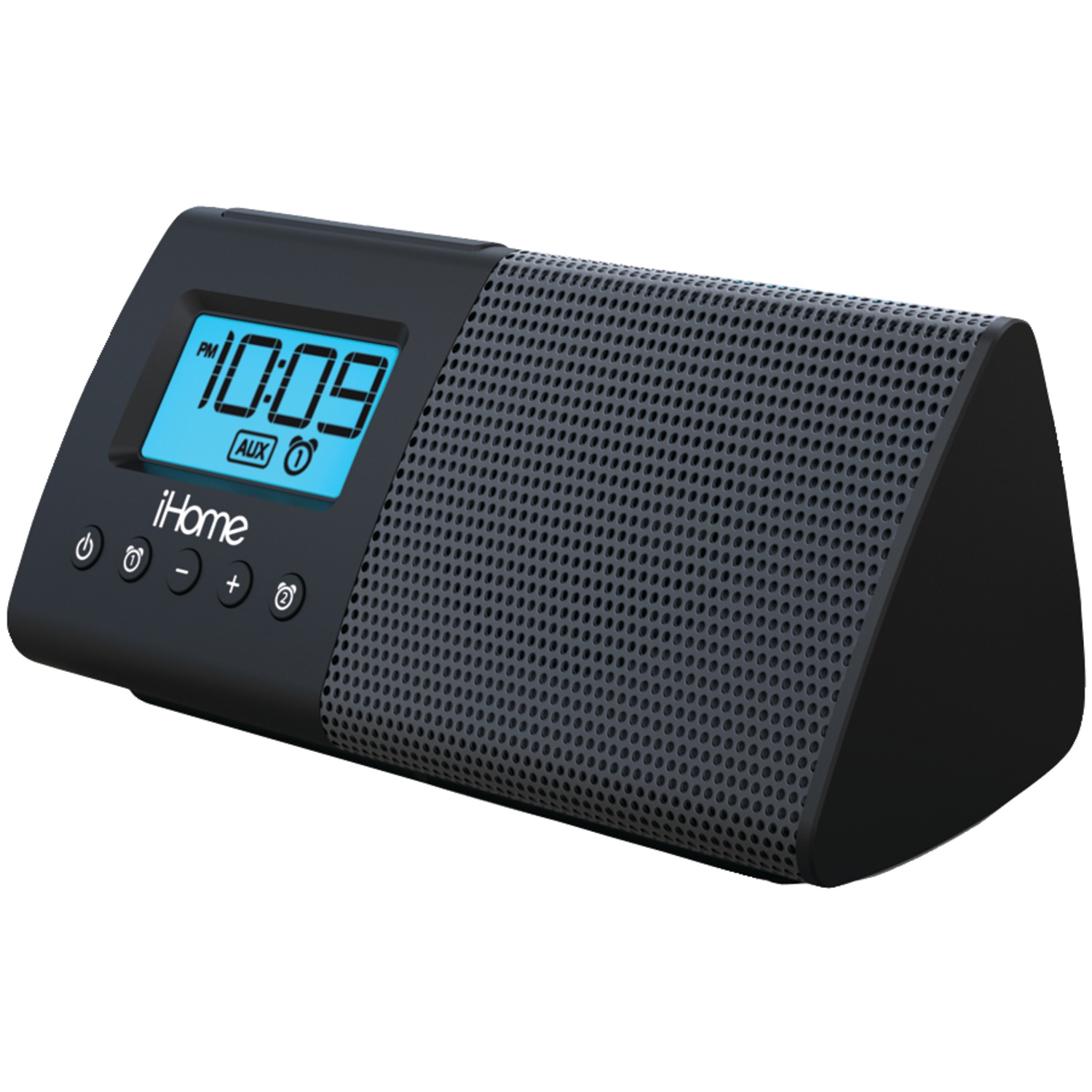 Ihome ihm46bc portable usb charging dual alarm clock for Ihome speaker