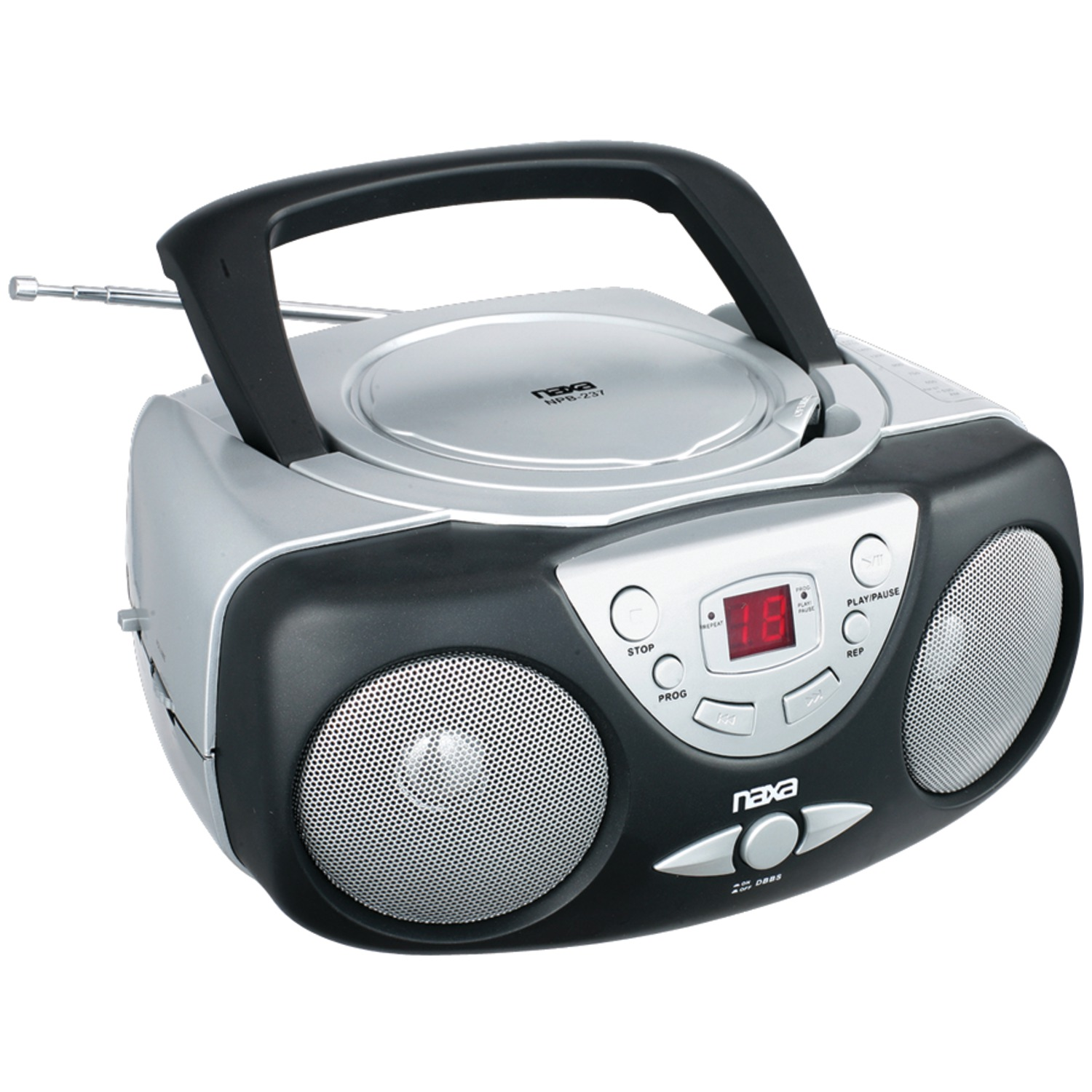 naxa npb237 portable cd player with am fm radio. Black Bedroom Furniture Sets. Home Design Ideas