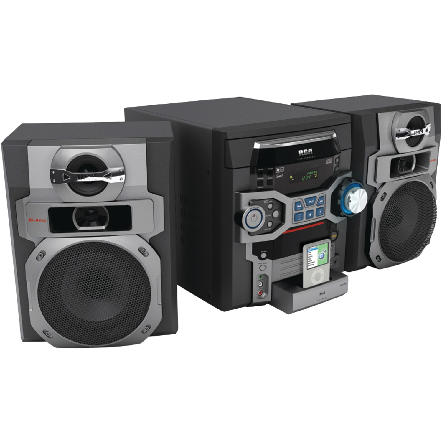 Rca Rs2767if 300 Watt 5 Disc Cd Audio System With Ipod R