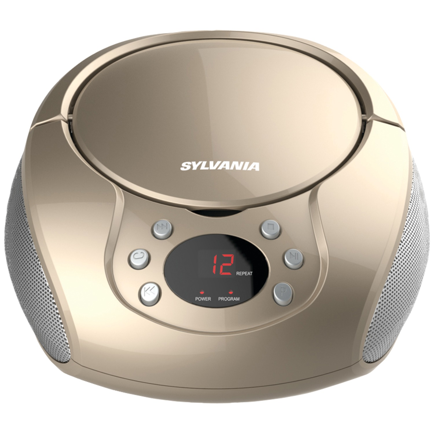 sylvania srcd261 b champagne portable cd player with am fm radio champagne. Black Bedroom Furniture Sets. Home Design Ideas