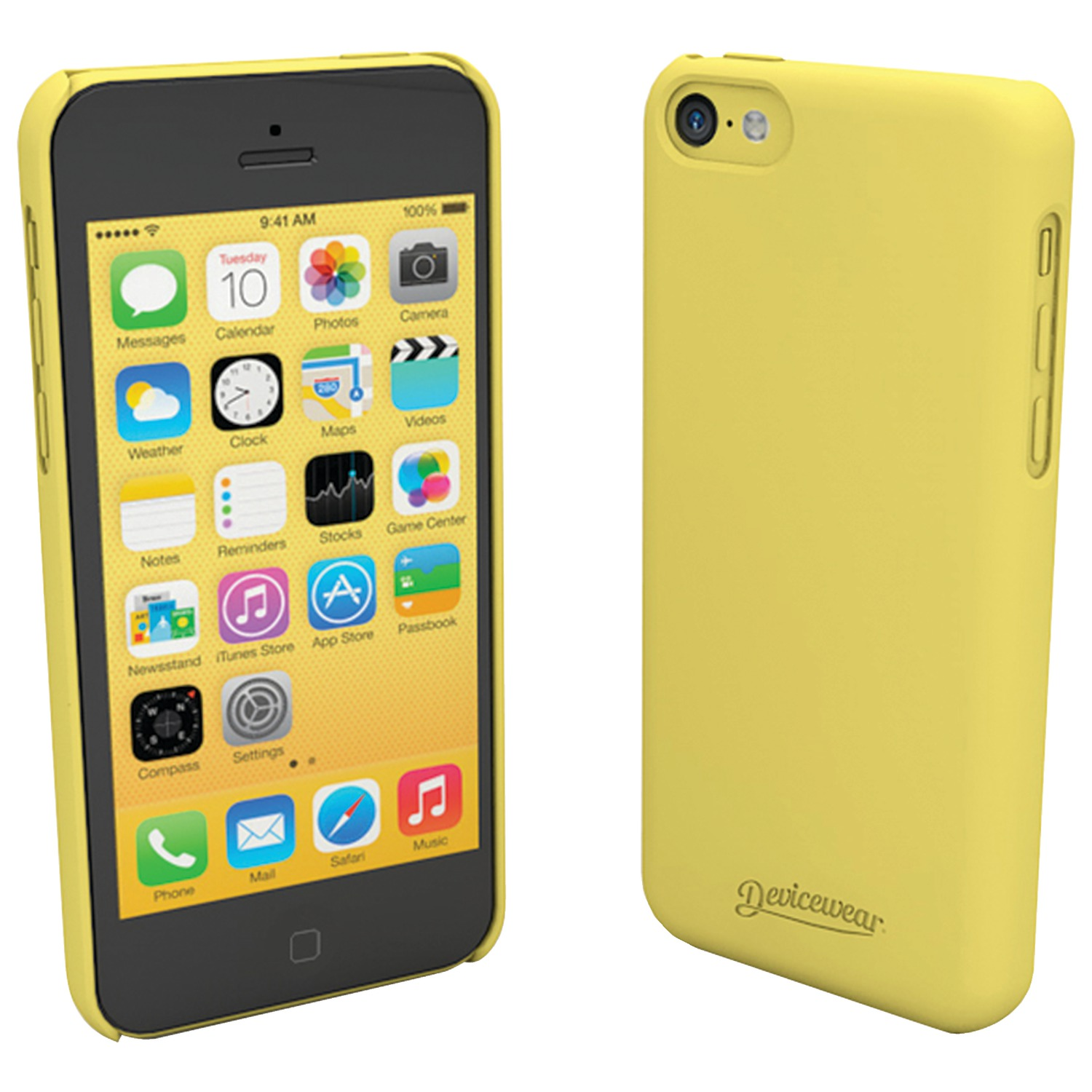 iphone 5c yellow devicewear met iph5c yel iphone r 5c metro tm 2424