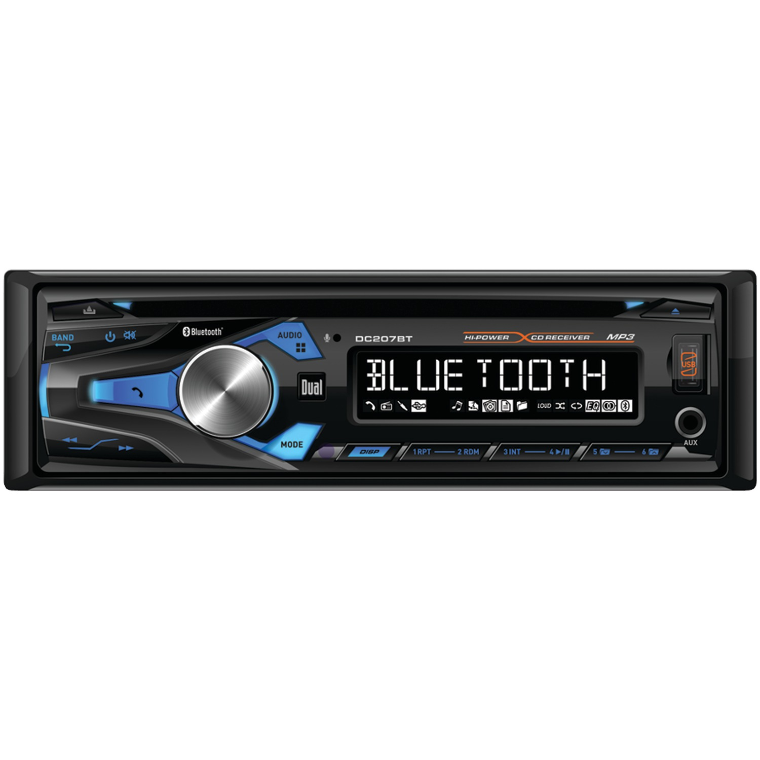 Xhdr6435 Cd Receiver Bluetooth Dual Wire Harness Dc207bt Single Din In Dash Am Fm With