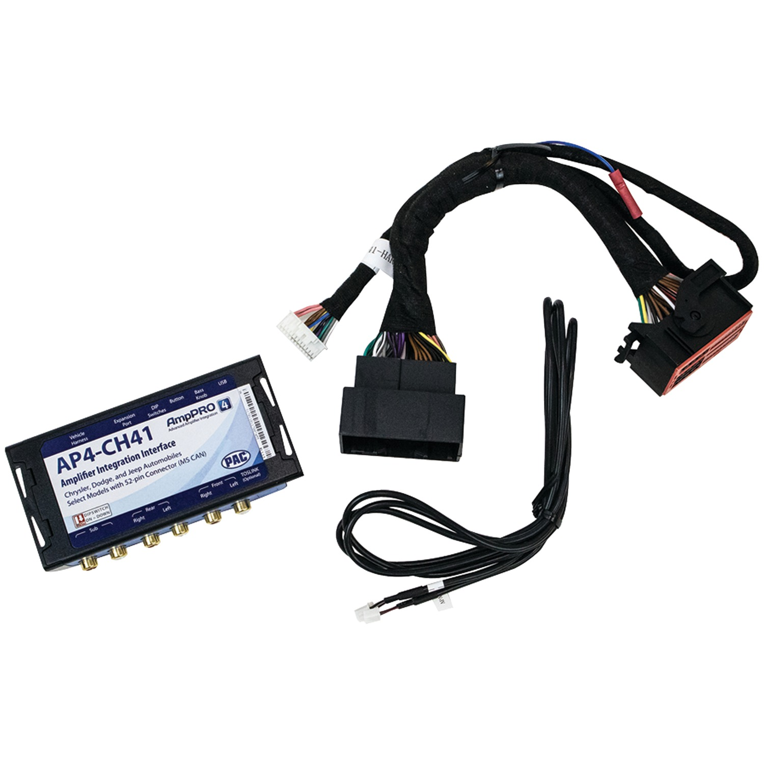 PAC AP4-CH41 | AmpPRO Interface (For Chrysler(R), Dodge(R), Jeep(R on jeep engine harness, jeep tach, jeep wiring connectors, jeep key switch, jeep relay wiring, jeep gas sending unit, jeep knock sensor, jeep seat belt harness, jeep wiring diagram, jeep exhaust leak, jeep wire connectors, jeep electrical harness, jeep condensor, jeep carrier bearing, jeep vacuum advance, jeep sport emblem, jeep intake gasket, jeep exhaust gasket, jeep bracket, jeep visor clip,