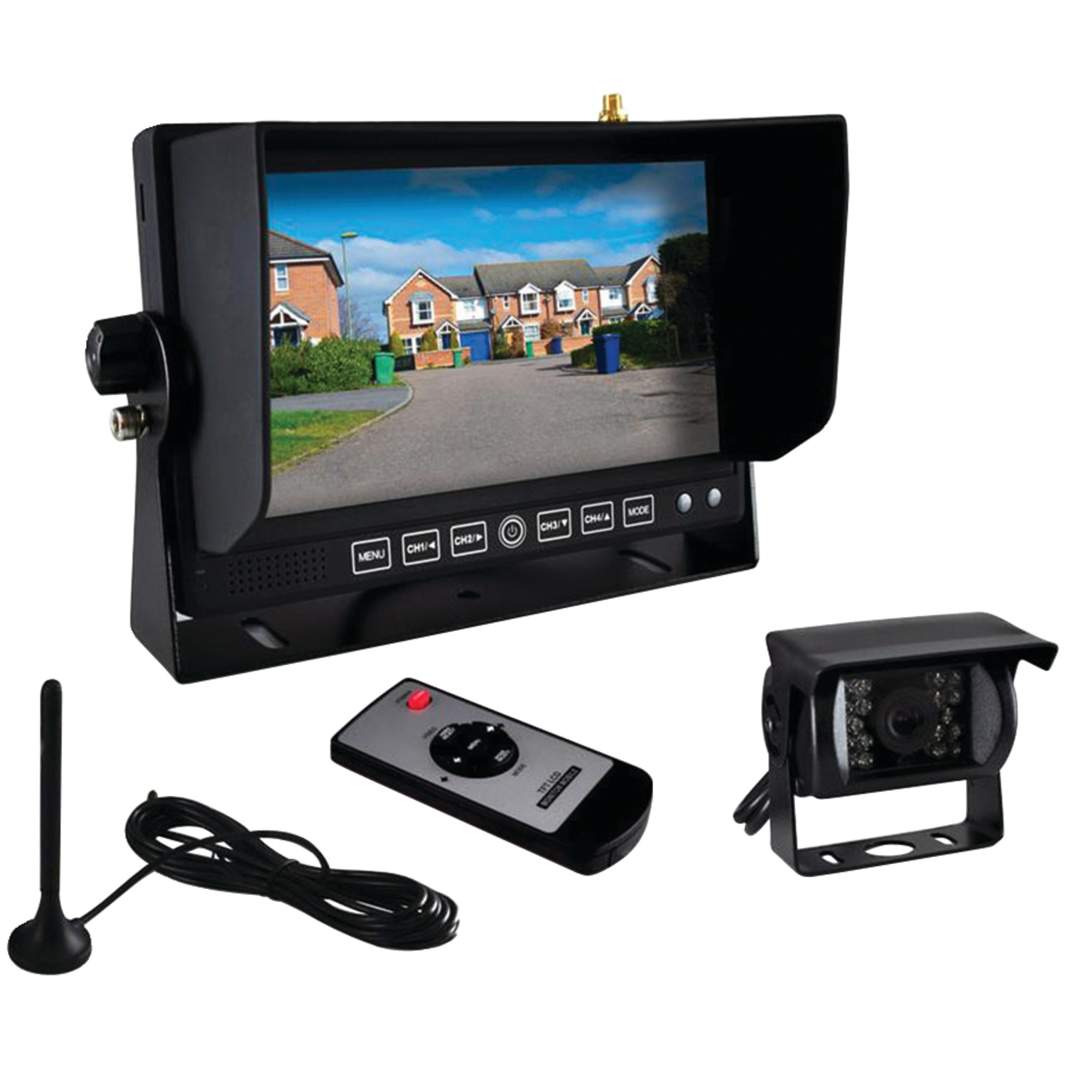 pyle� plcm7700 rear view backup camera and monitor system