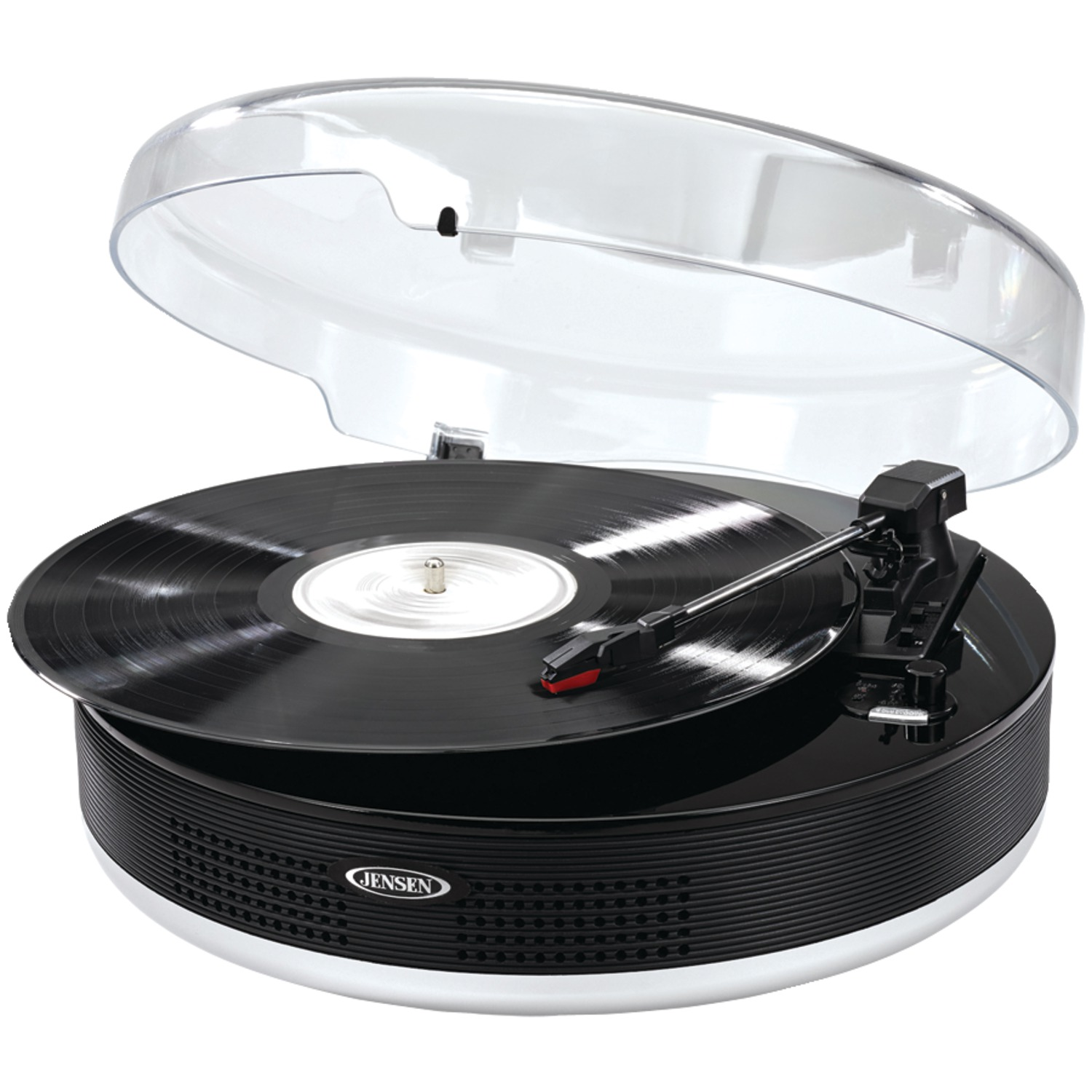 JENSEN JTA 455 Bluetooth(R) 3 Speed Stereo Turntable With Metal Tone