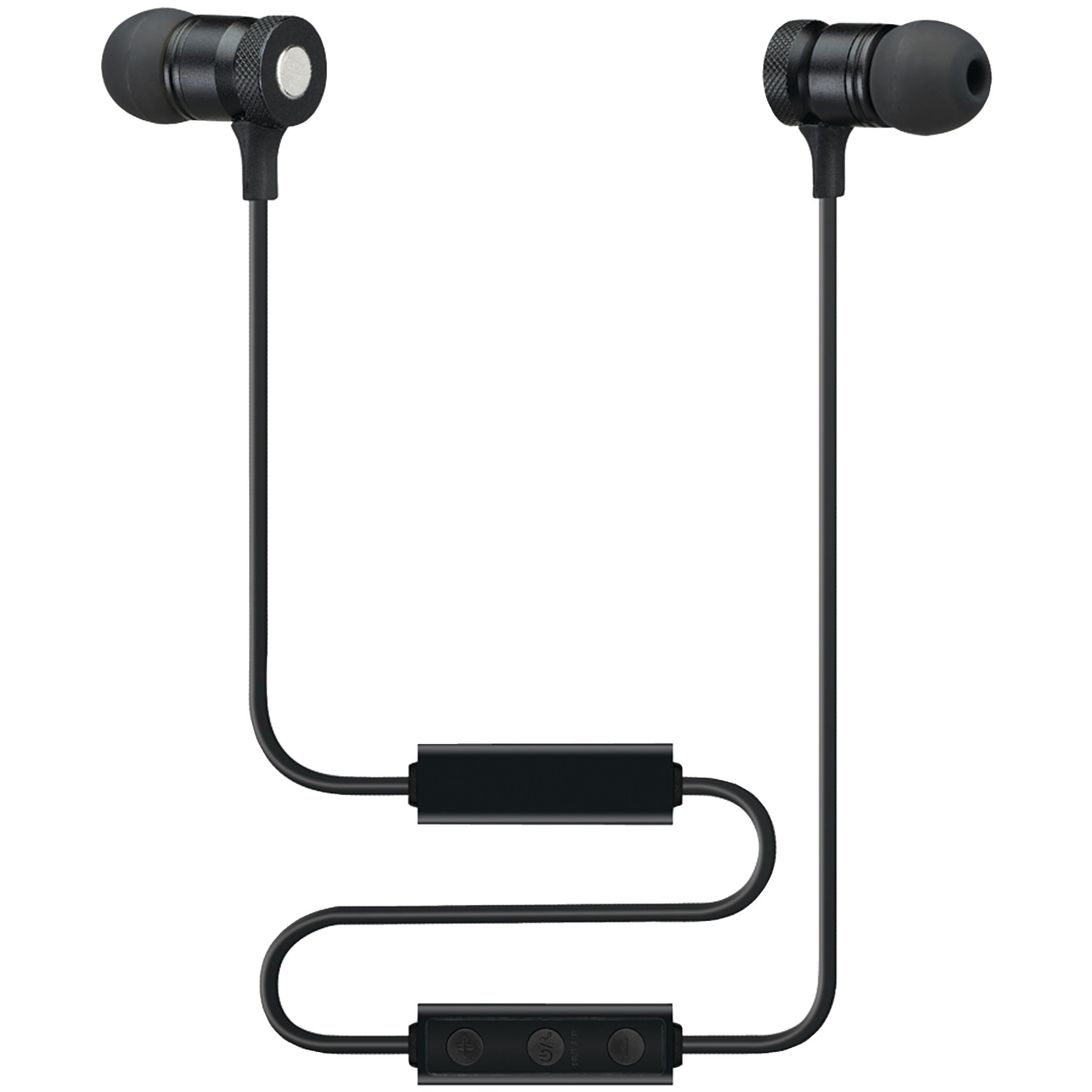 sound aura saeb16b bluetooth r magnetic earbuds with microphone. Black Bedroom Furniture Sets. Home Design Ideas