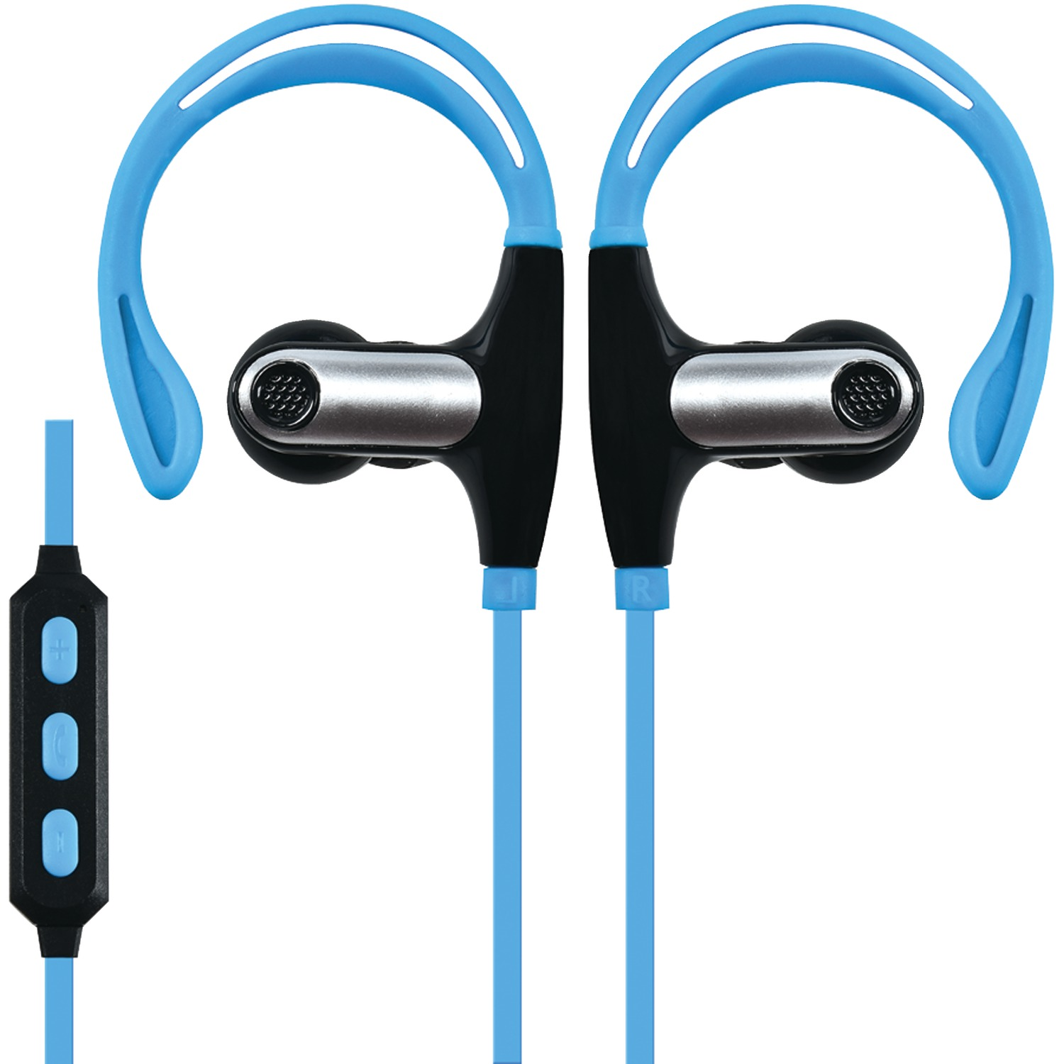 supersonic iq 131bt blue sweatproof bluetooth r sport earbuds with microphone blue. Black Bedroom Furniture Sets. Home Design Ideas