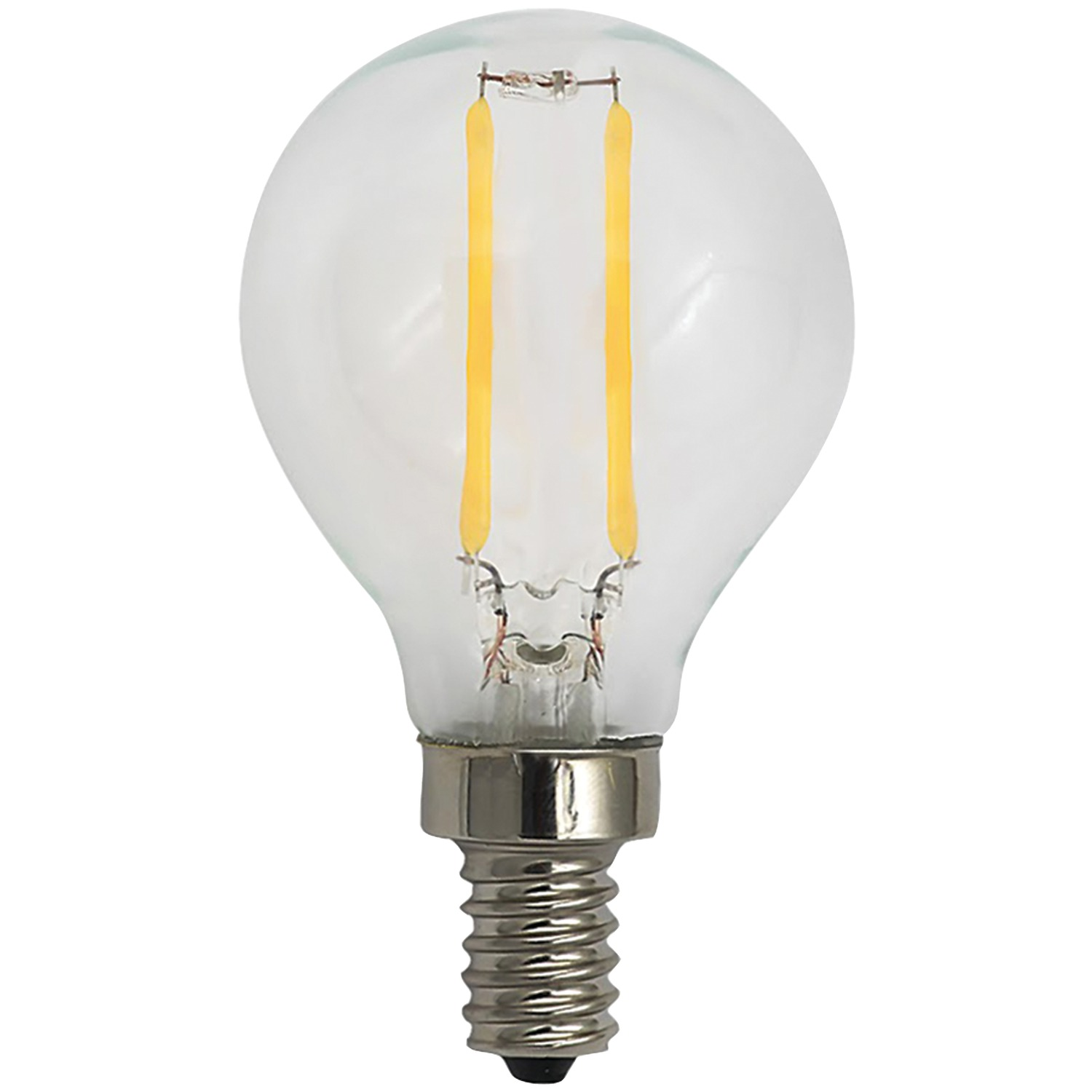 Sleek Lighting 18104 2 Watt Dimmable Led Filament Globe Light Bulb