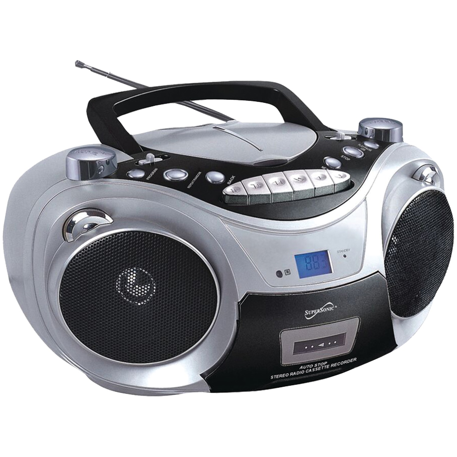 Supersonic sc 709 silver portable mp3 cd player with - Mobile porta cd ...