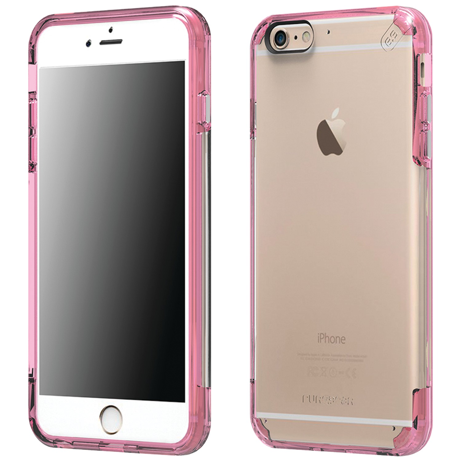 iphone 6 plus pink puregear 11200vrp iphone r 6 plus 6s plus slim shell 4069