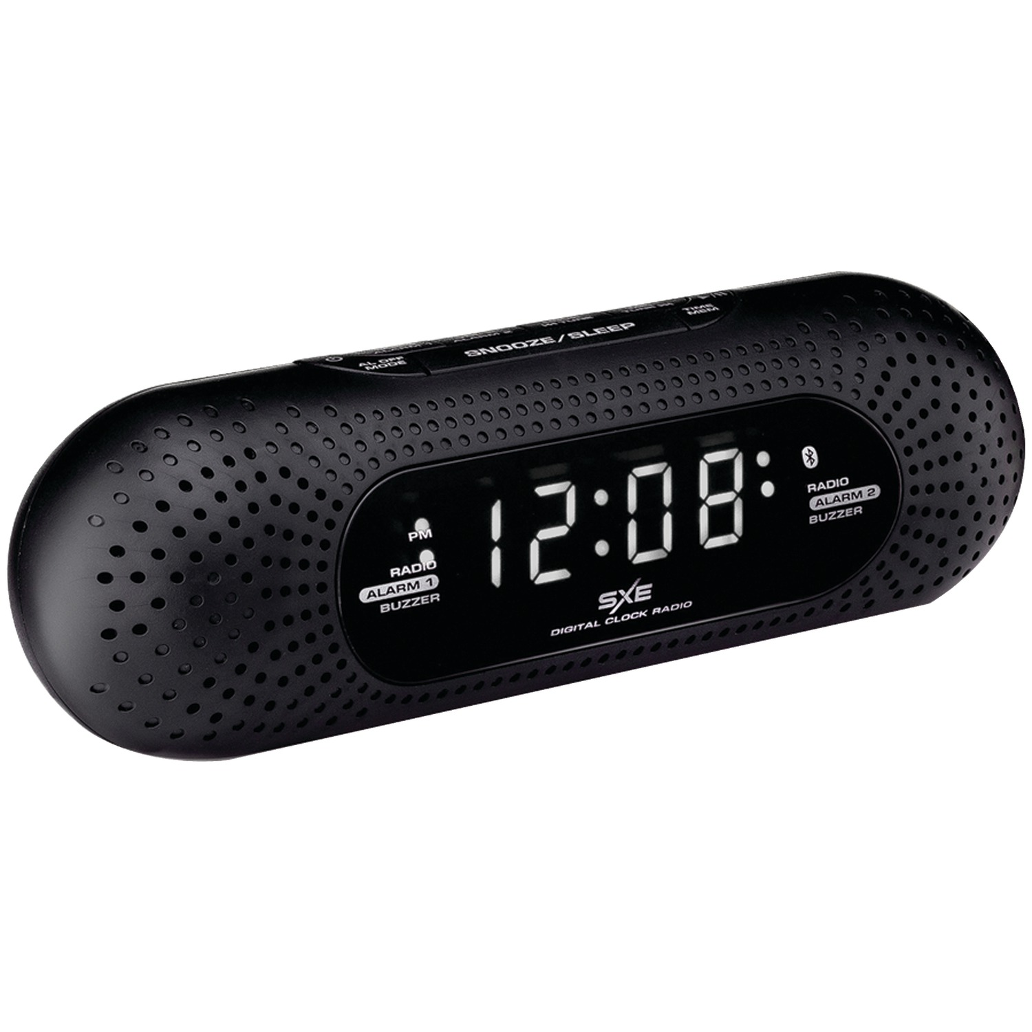 sxe sxe86002 bluetooth r speaker alarm clock radio. Black Bedroom Furniture Sets. Home Design Ideas