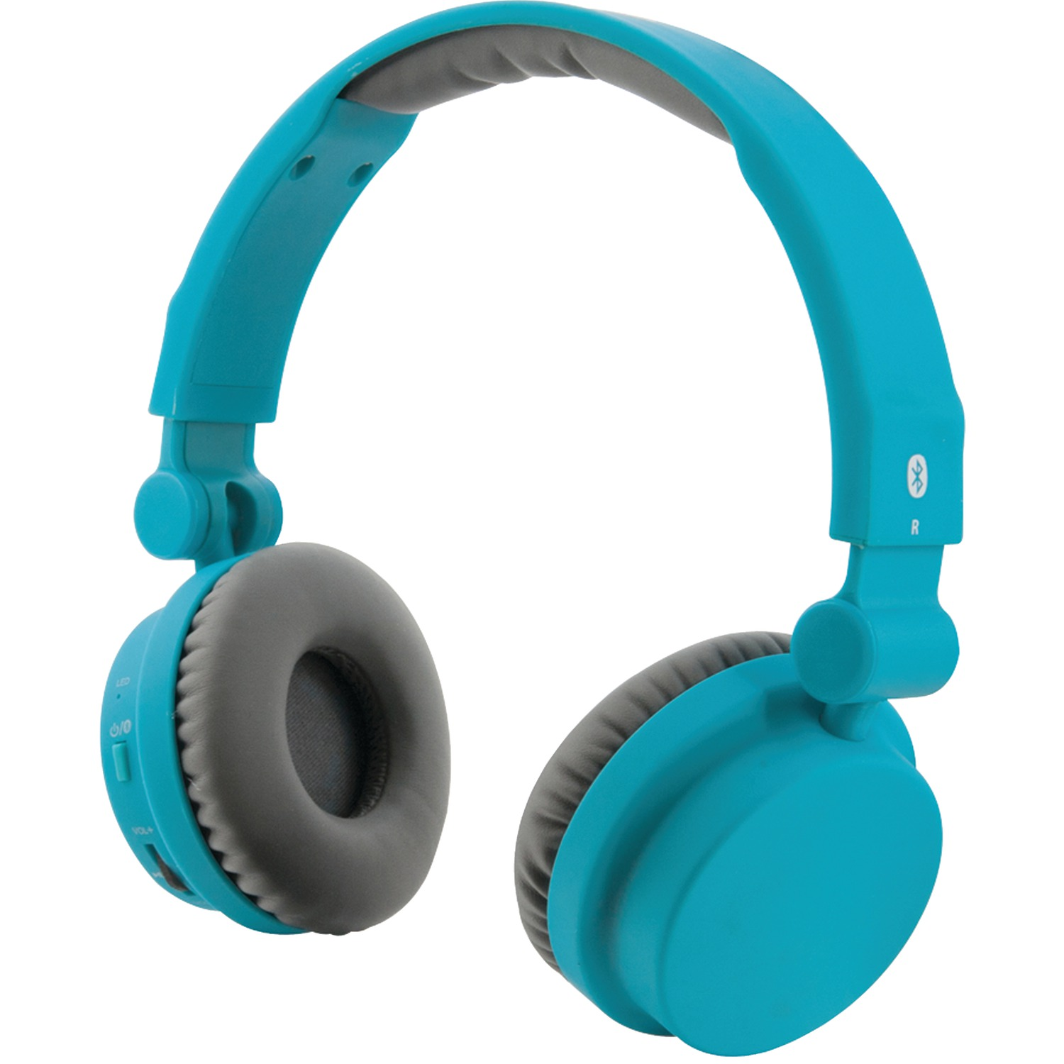 ilive iahb45tl bluetooth r headphones with microphone matte teal. Black Bedroom Furniture Sets. Home Design Ideas