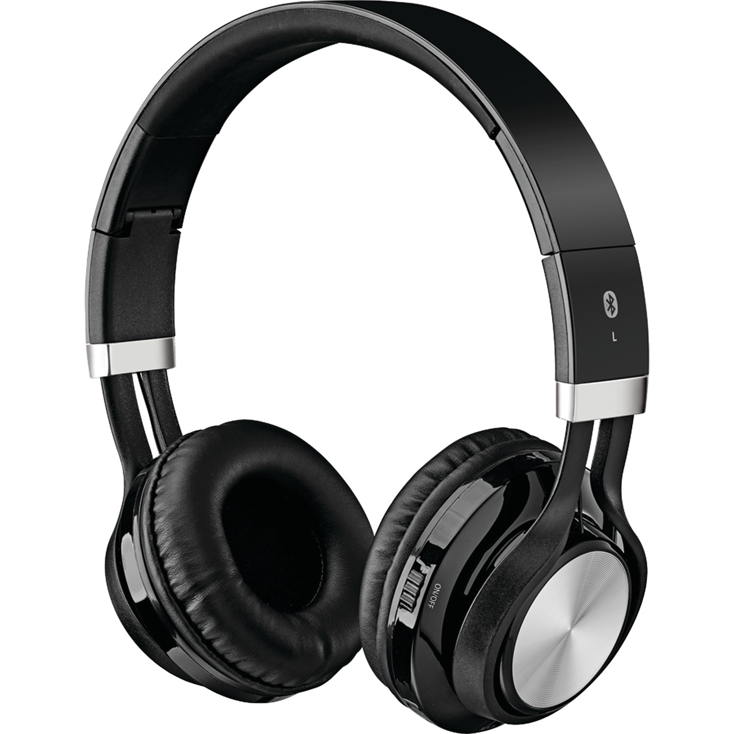 ilive iahb56b bluetooth r headphones with microphone black. Black Bedroom Furniture Sets. Home Design Ideas