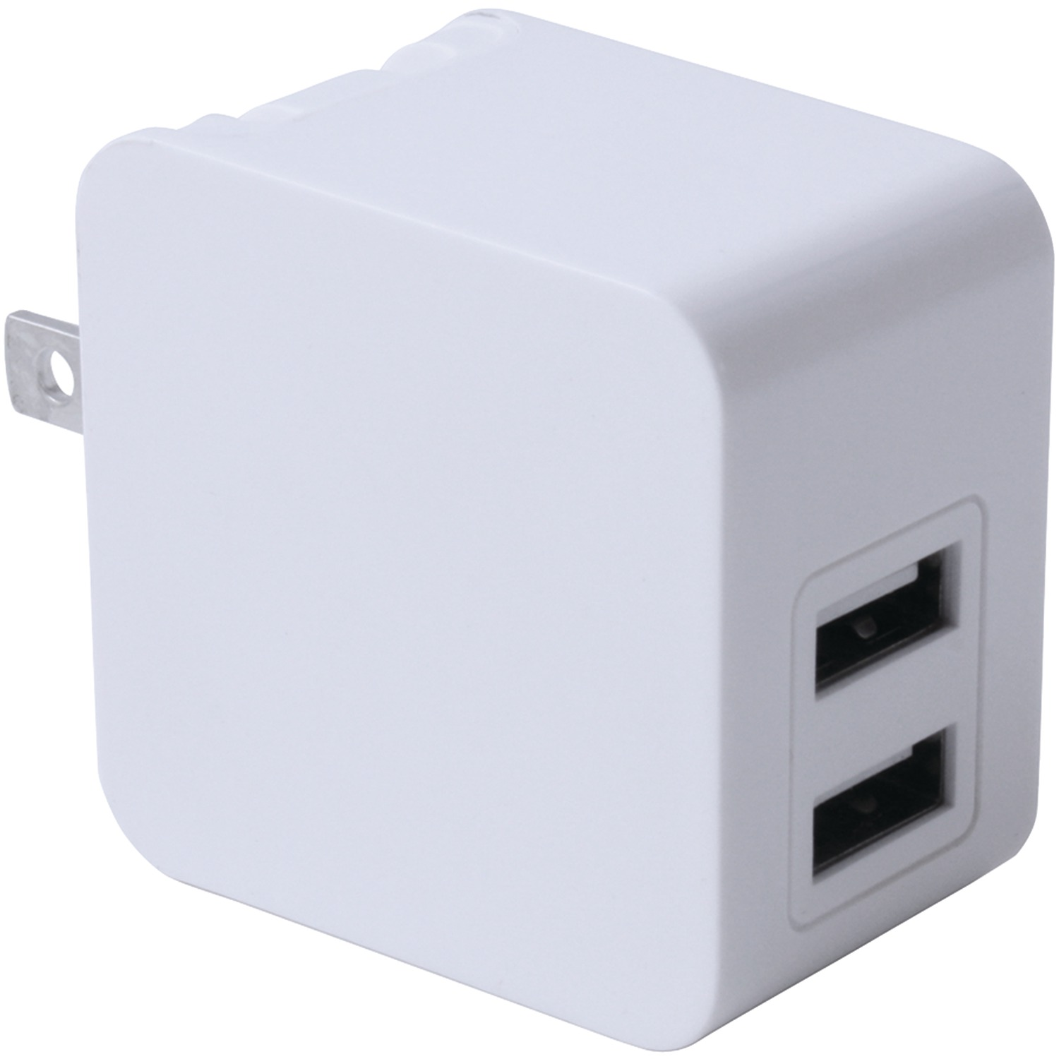 iwerkz 44562 3 4 amp dual port usb wall charger white. Black Bedroom Furniture Sets. Home Design Ideas