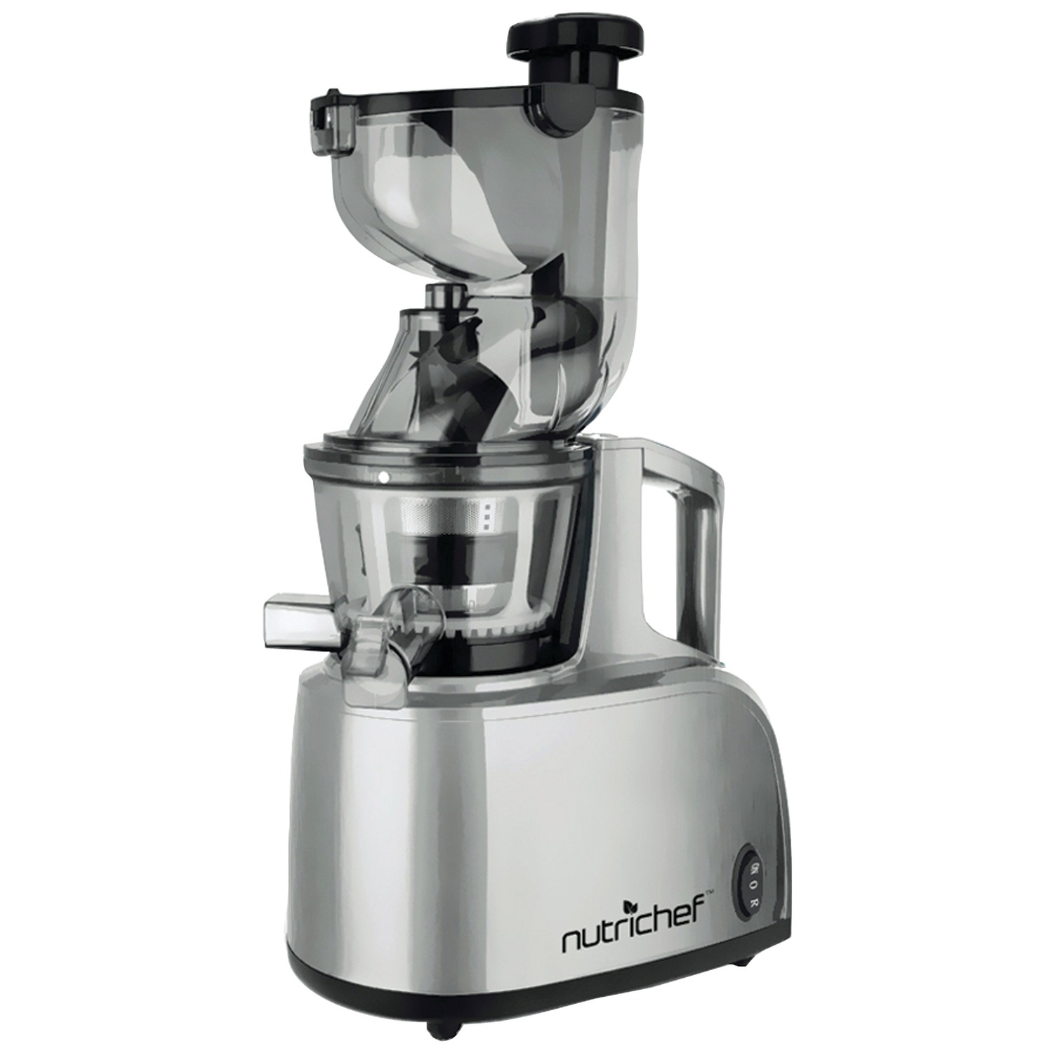 Professional Masticating Slow Juicer : NUTRICHEF PKSJ40 Countertop Masticating Slow Juicer & Drink Maker