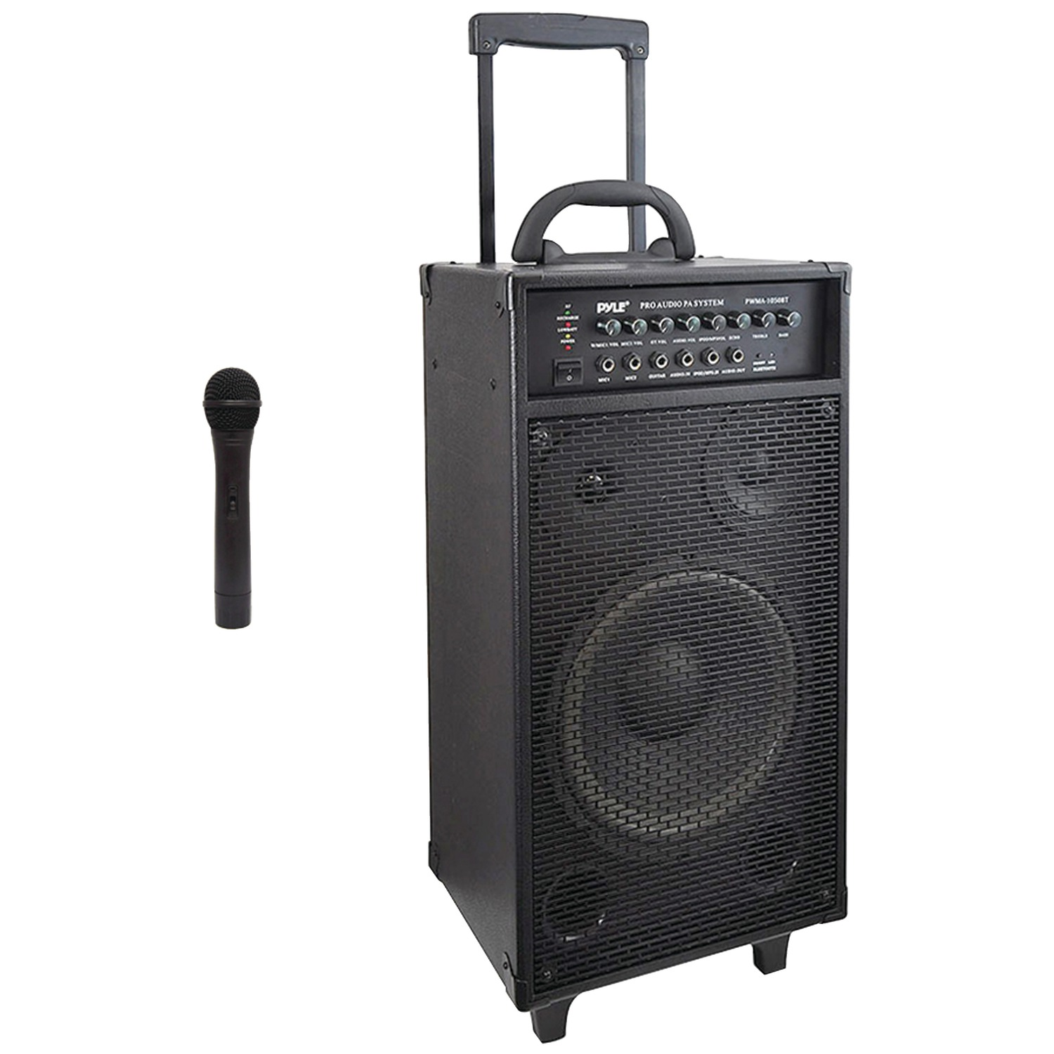 pyle pro pwma1050bt wireless portable bluetooth pa speaker system. Black Bedroom Furniture Sets. Home Design Ideas